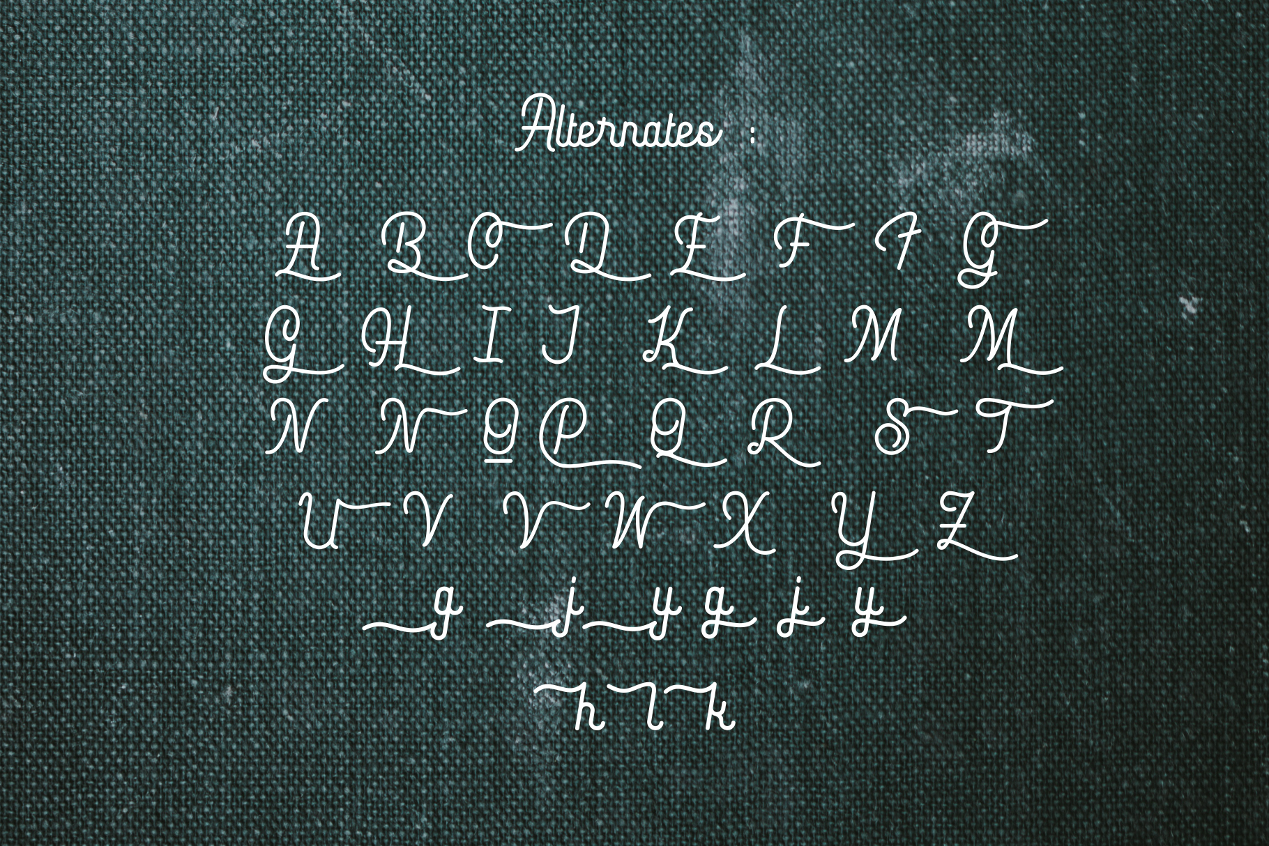Hopkins monoline script example image 8