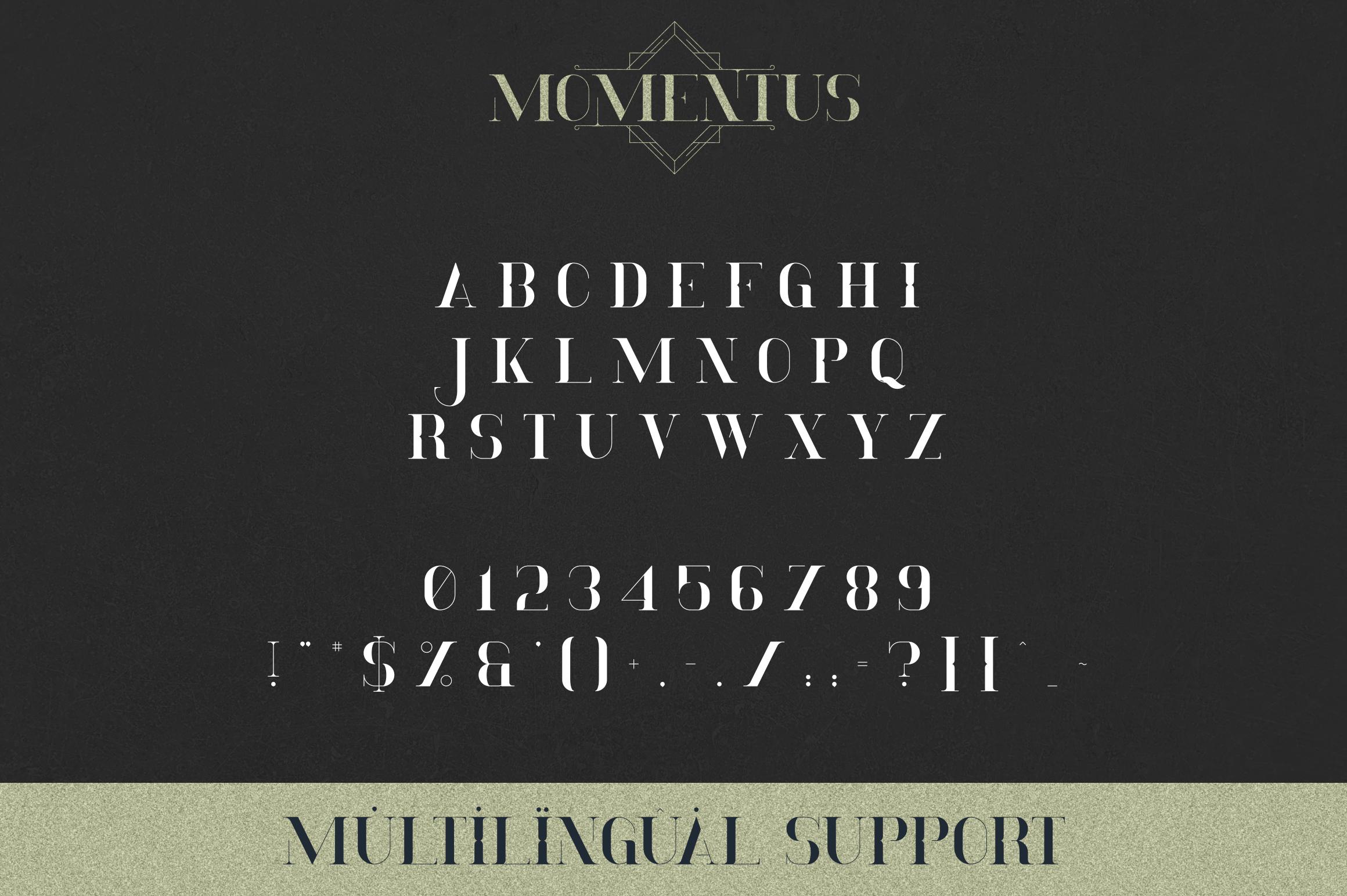 Momentus serif font-Extras example image 8