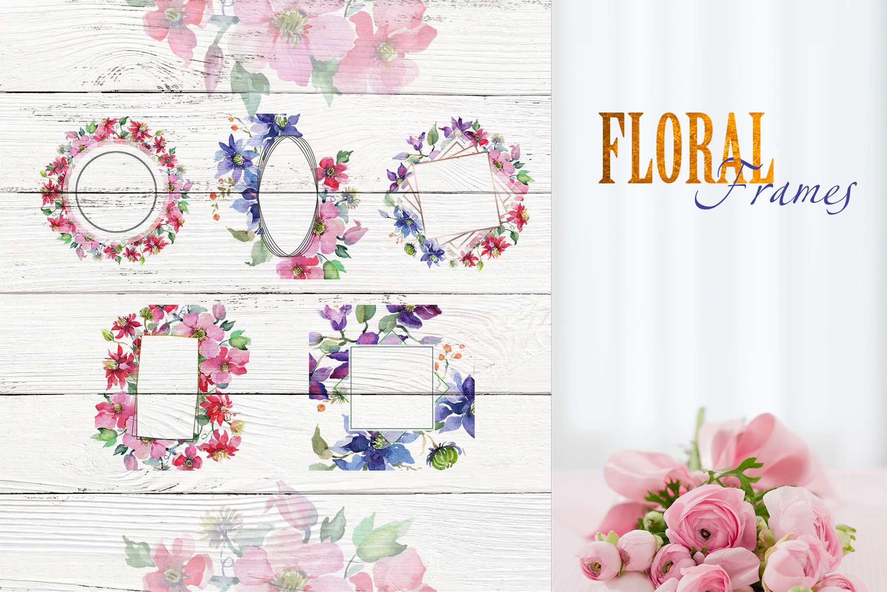 Bright Bouquets Watercolor png example image 6