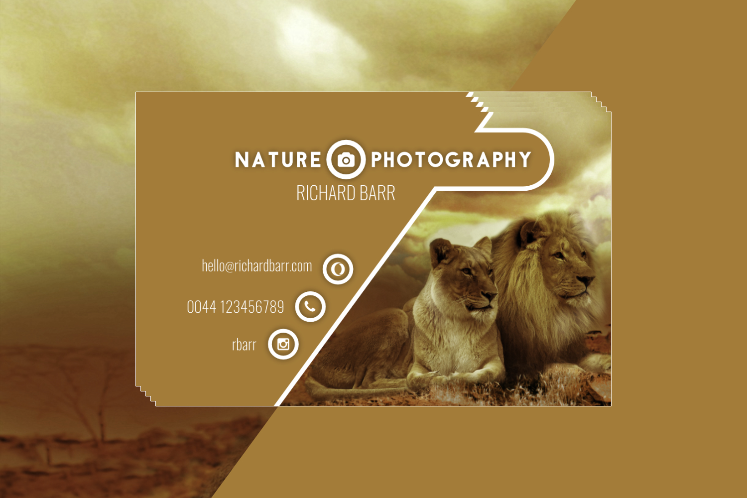 Nature Photography Business Card Set example image 6