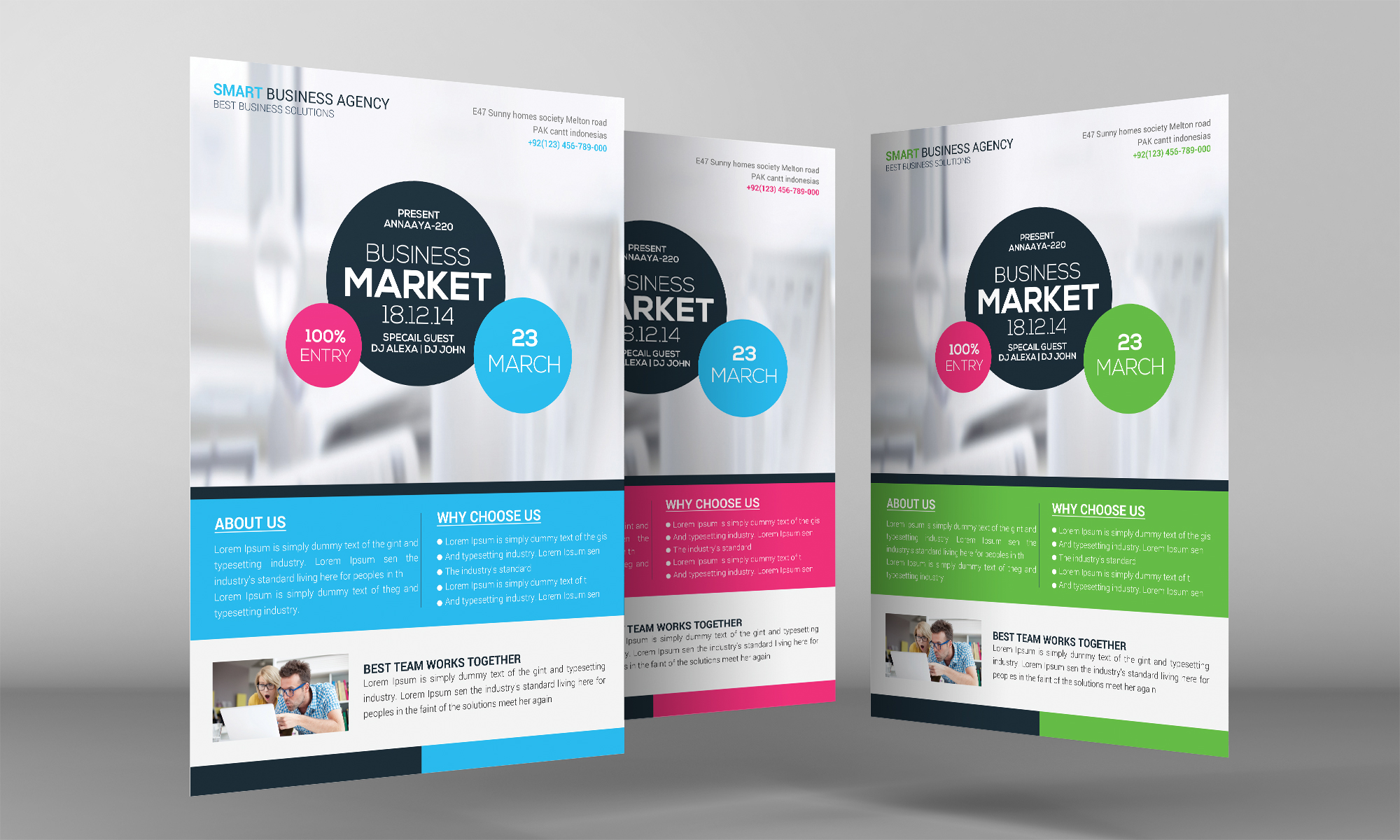 Corporate Business Flyer Temp example image 3
