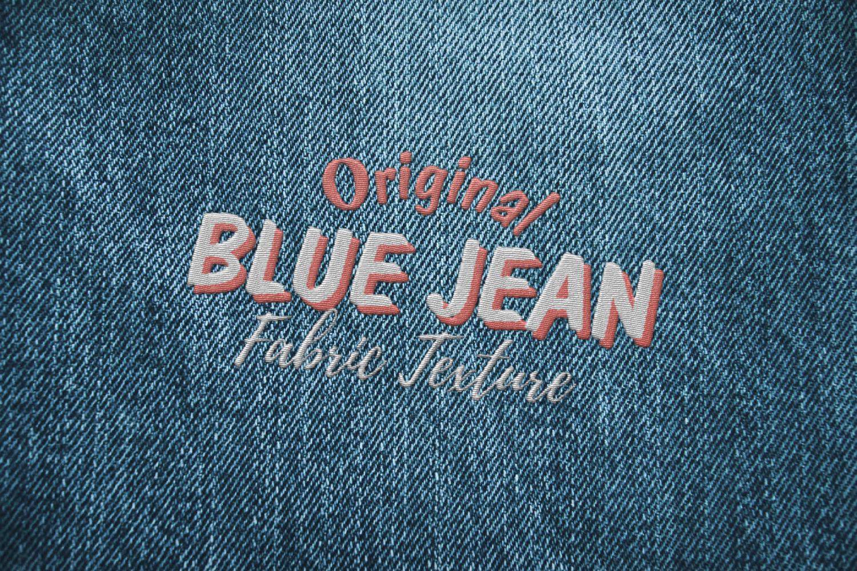 15 Denim Jean Fabric Textures JPG example image 7