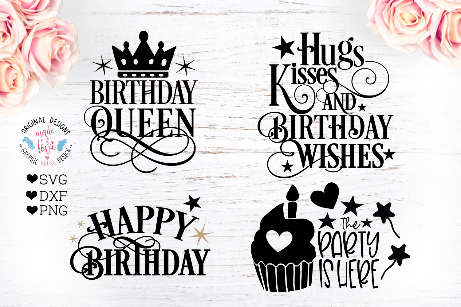 8 Birthday Party Quotes - Birthday Cut Files Bundle example image 2