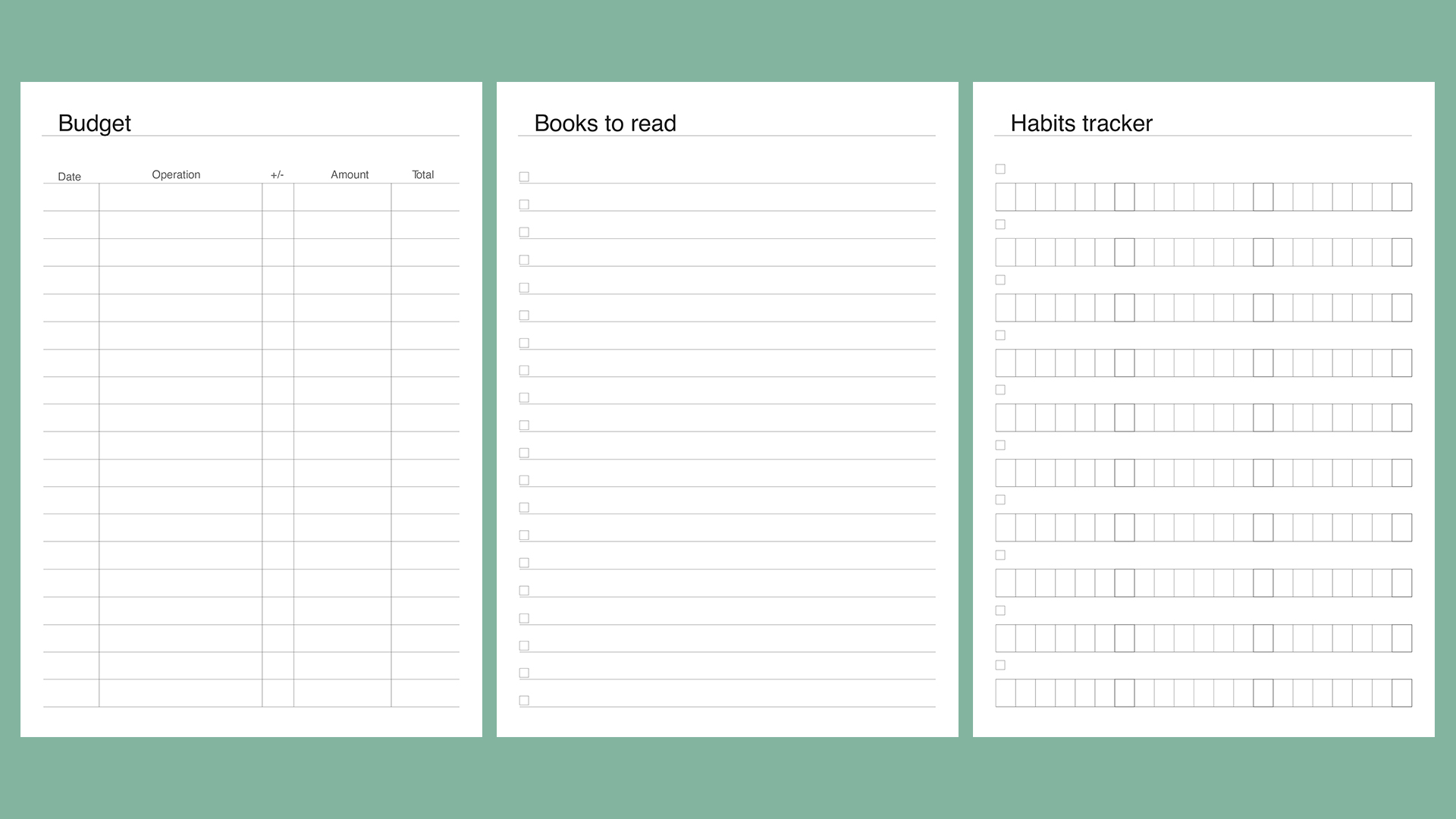 Planner kit vol.4. Universal design example image 6