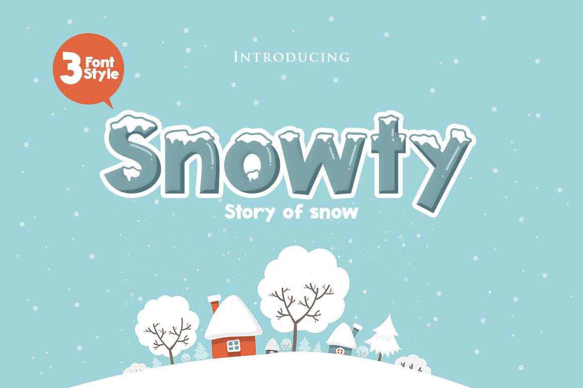 snowty 3 font. Black Bedroom Furniture Sets. Home Design Ideas