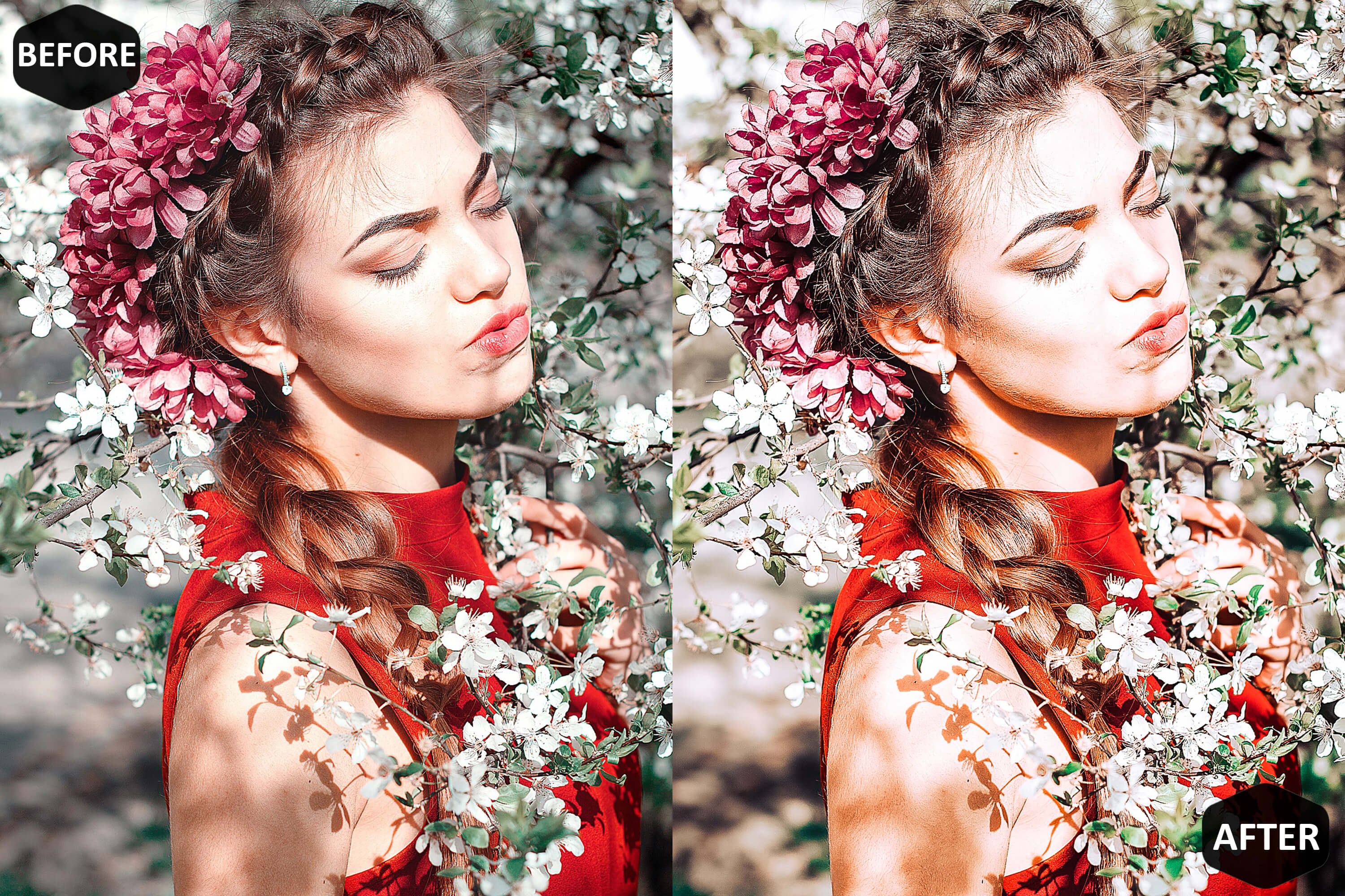 Red Blogger Photoshop Actions And ACR Presets example image 2