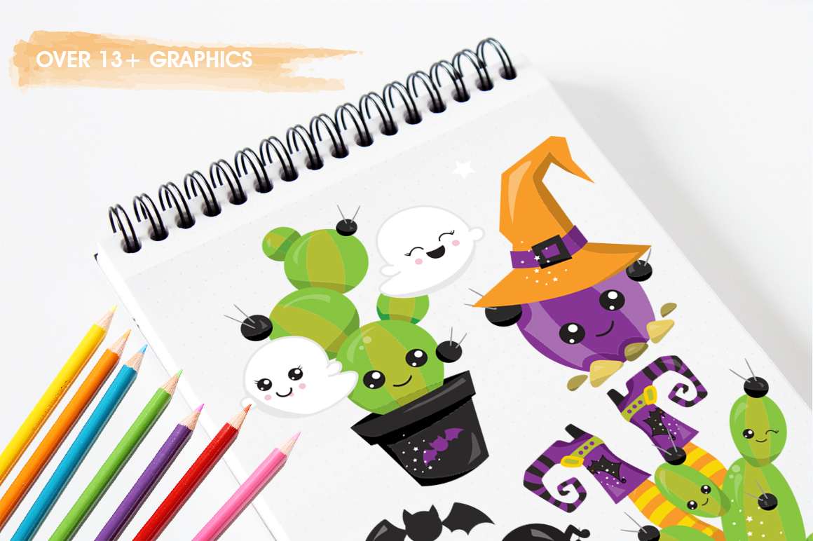 Halloween Pots graphic and illustrations example image 4