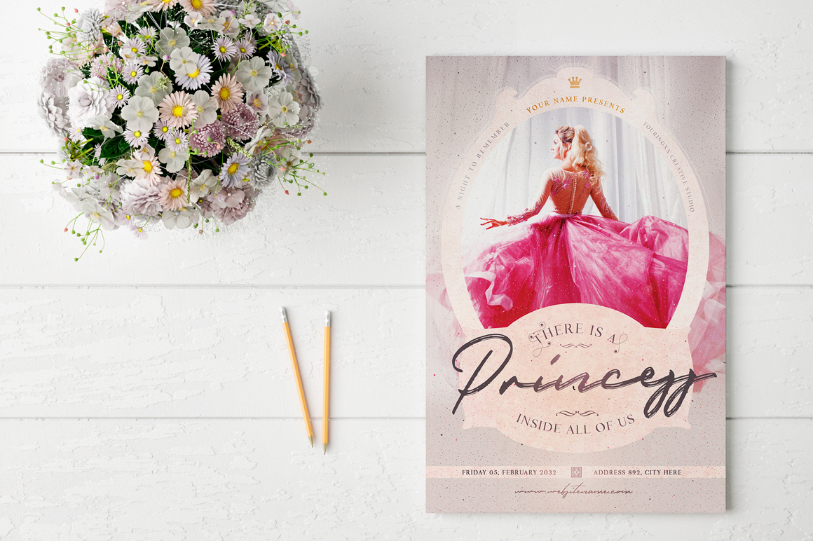 There Is A Princess Inside All Of Us Flyer Template example image 2