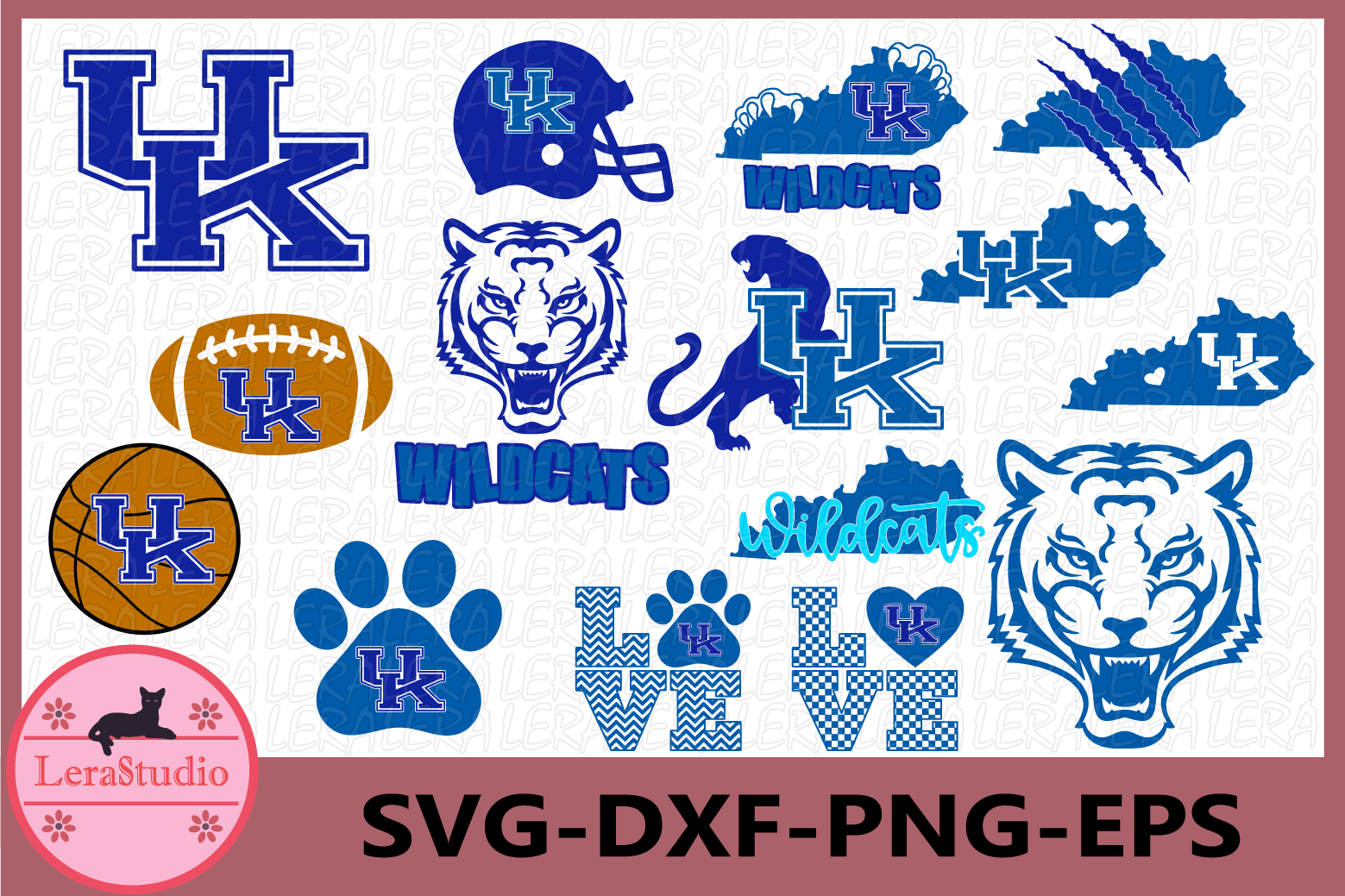 Kentucky svg, Wildcats Svg, Wildcat Head Svg, Wildcats Paw example image 1