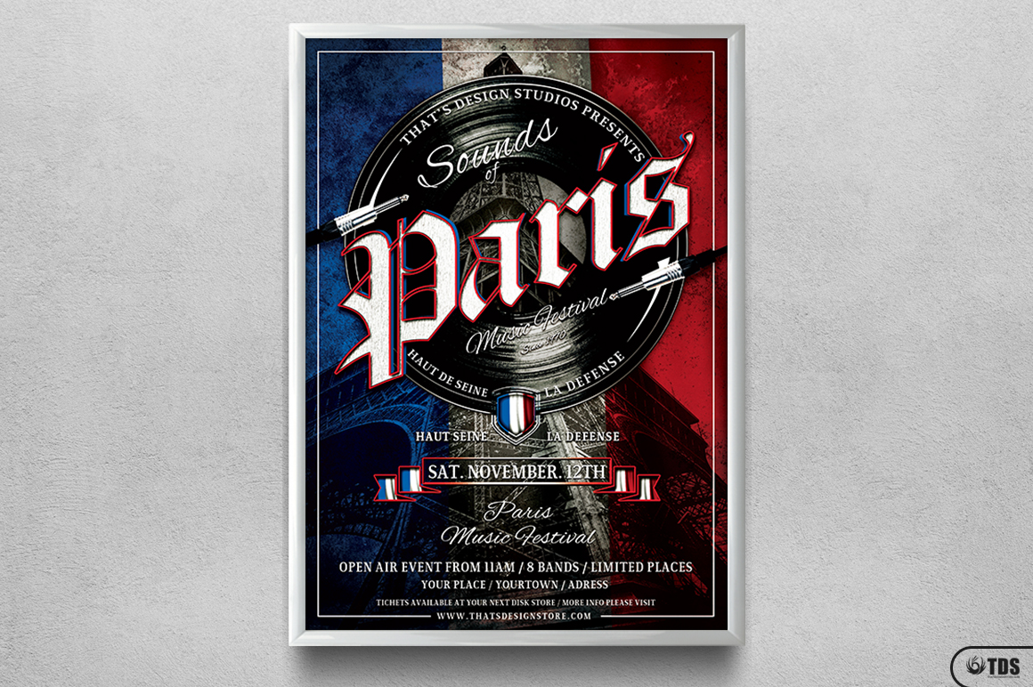 Sounds of Paris Flyer Template example image 6