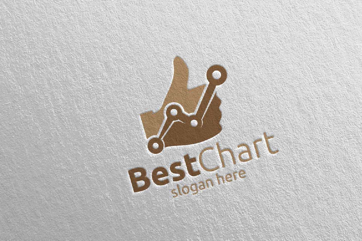Best Chart Marketing Financial Advisor Logo Design 17 example image 4