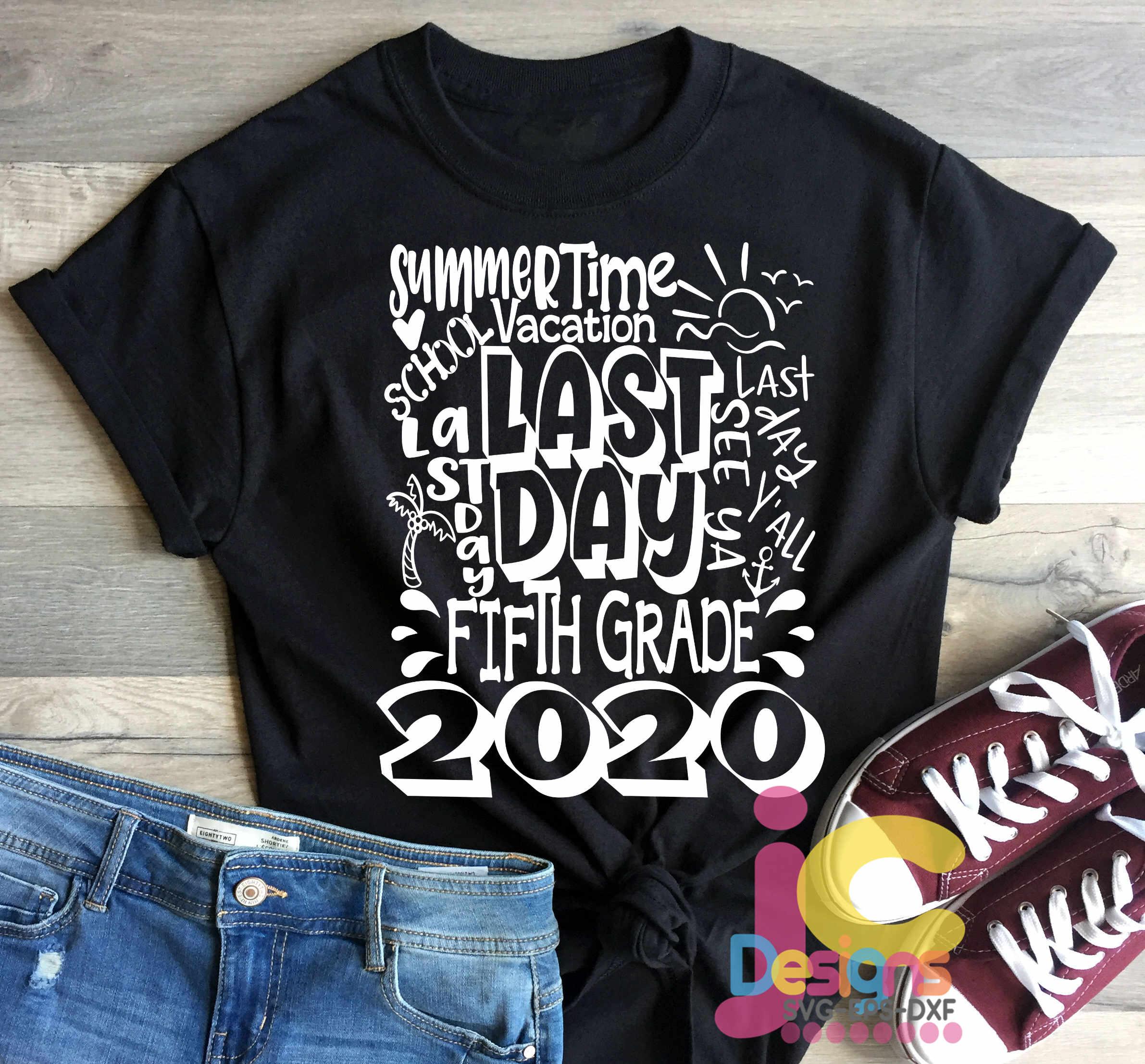 2020 Fifth 5th Grade Last day of school svg Design Cricut example image 2