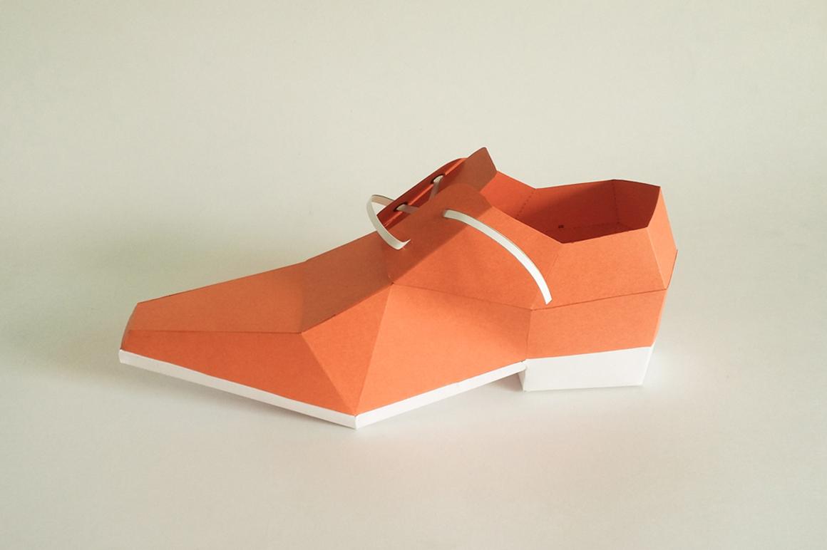 DIY Square toe shoe - 3d papercraft example image 3