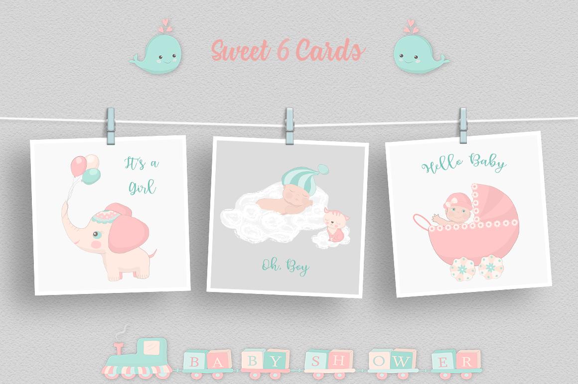 Baby Shower Illustration Set example image 3