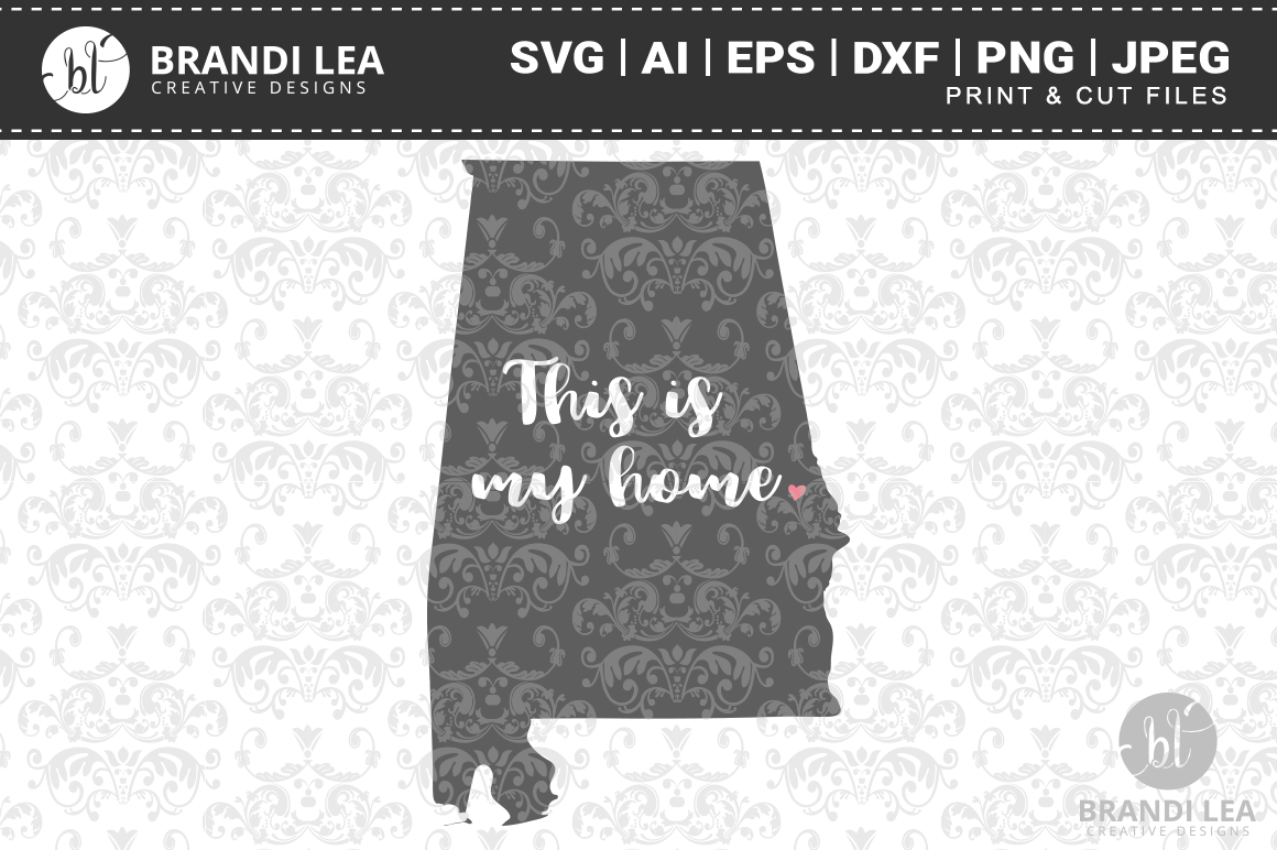 This is My Home - Alabama Cutting Files example image 1