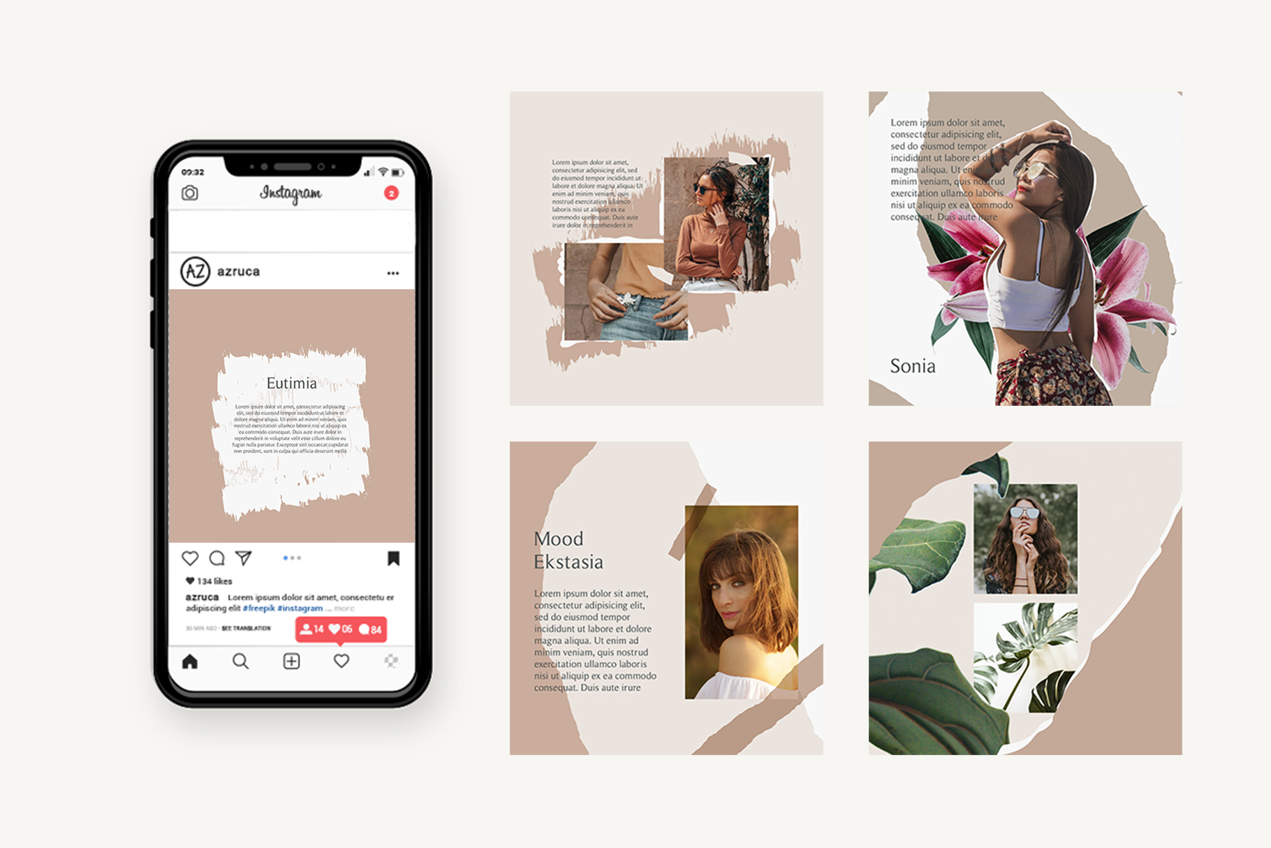 Moody Instagram Templates example image 3