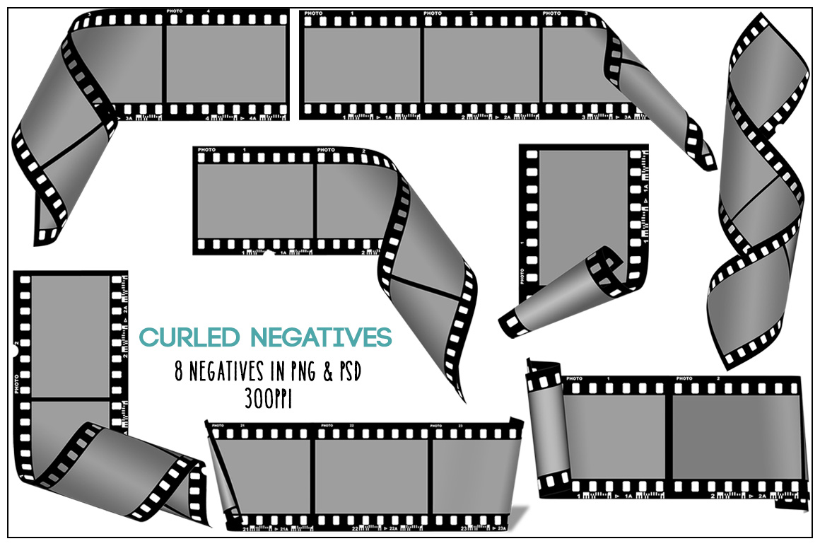 Curled Film Negative Frames example image 2