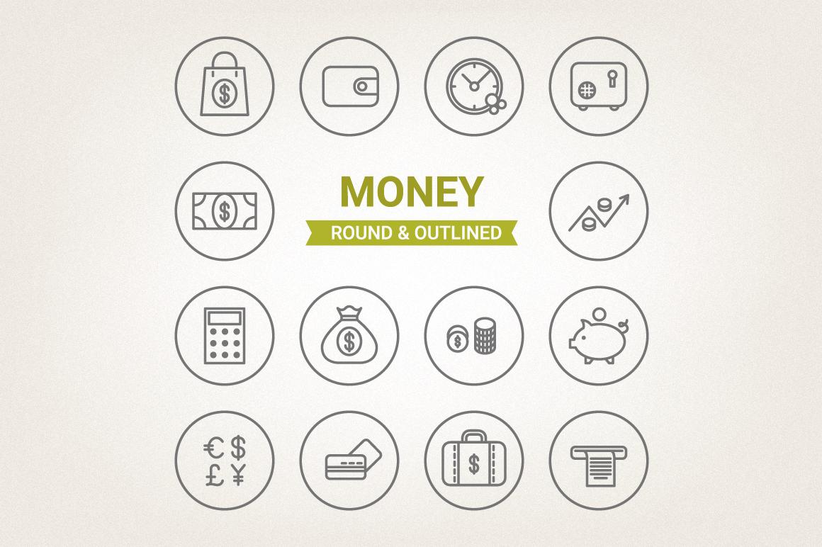 Circle Money Icons example image 1