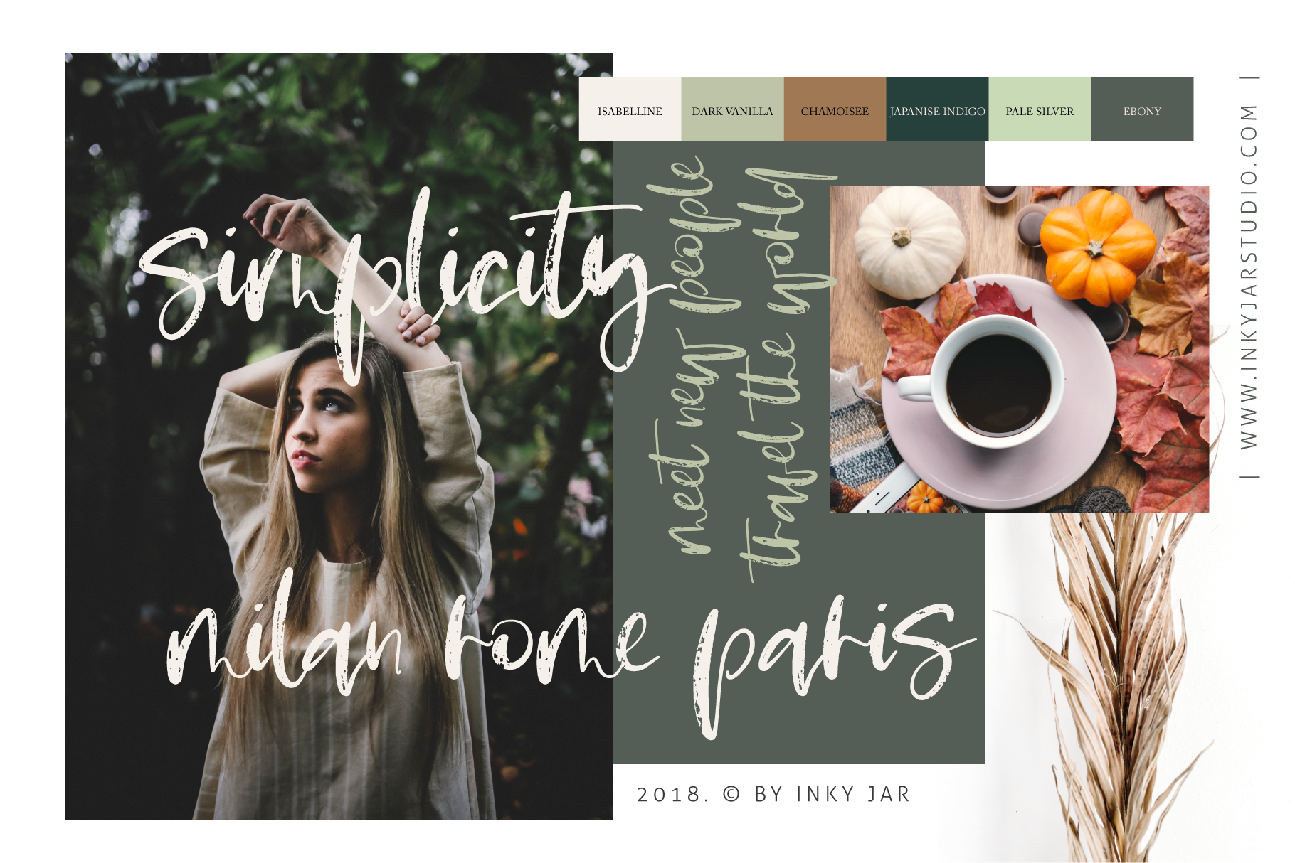 Pumpkin Spice Latte | Brush Script example image 6