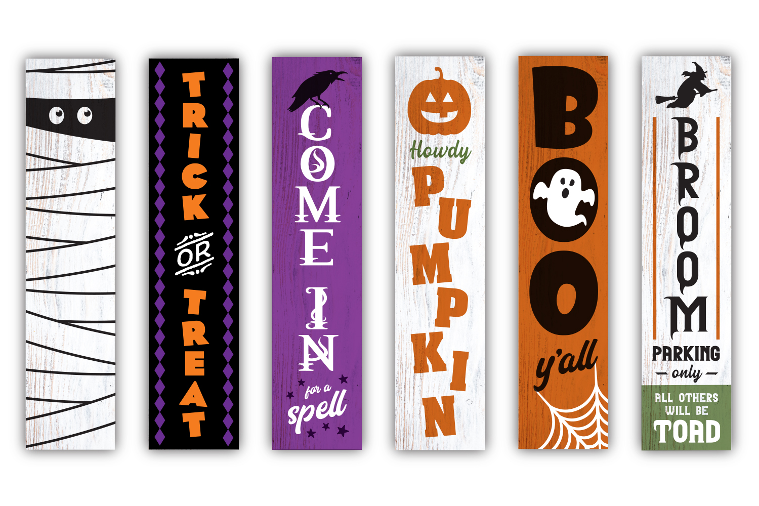 Halloween / Fall porch sign bundle - SVG, EPS, JPG, PNG, DXF example image 2
