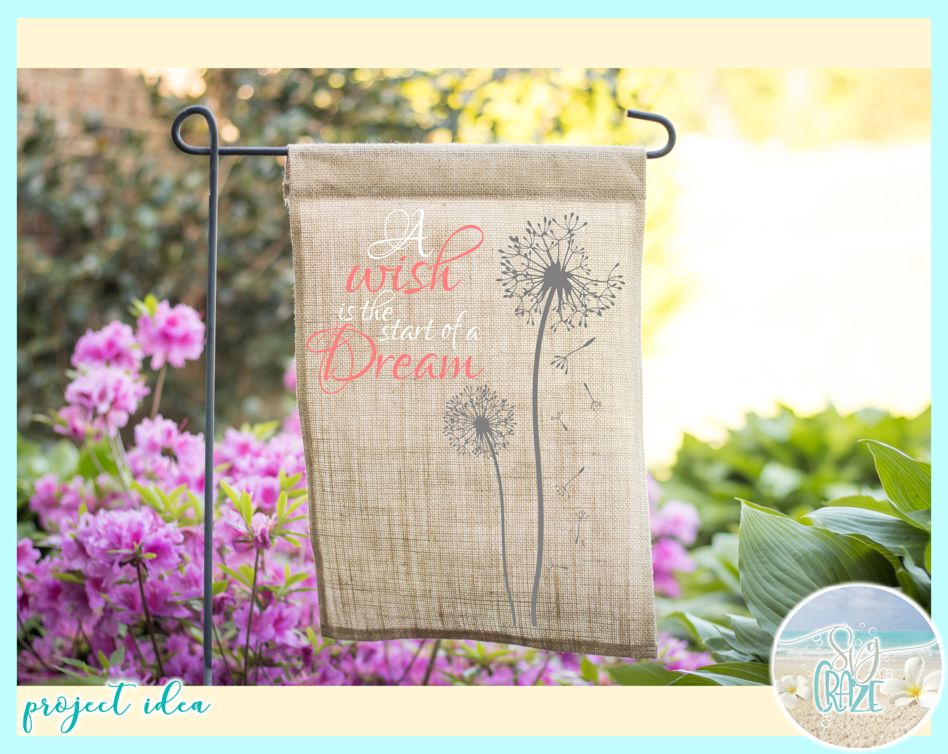 A Wish Is The Start Of A Dream Quote Dandelion SVG example image 3