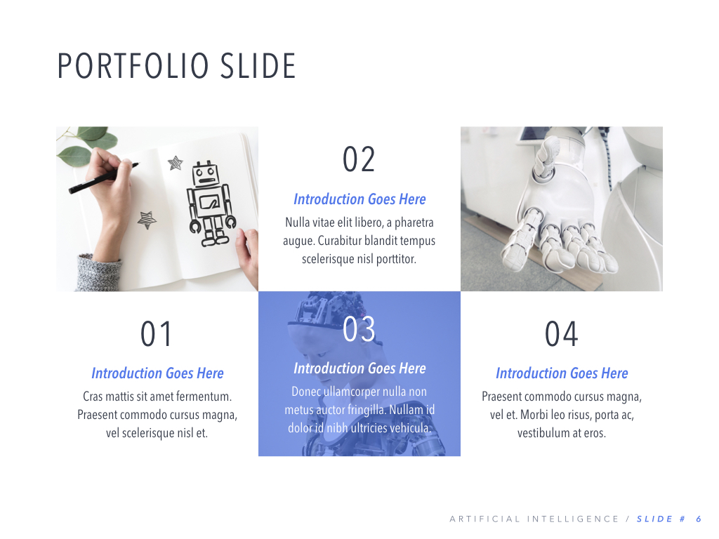 Robot Showcase PowerPoint Template example image 7