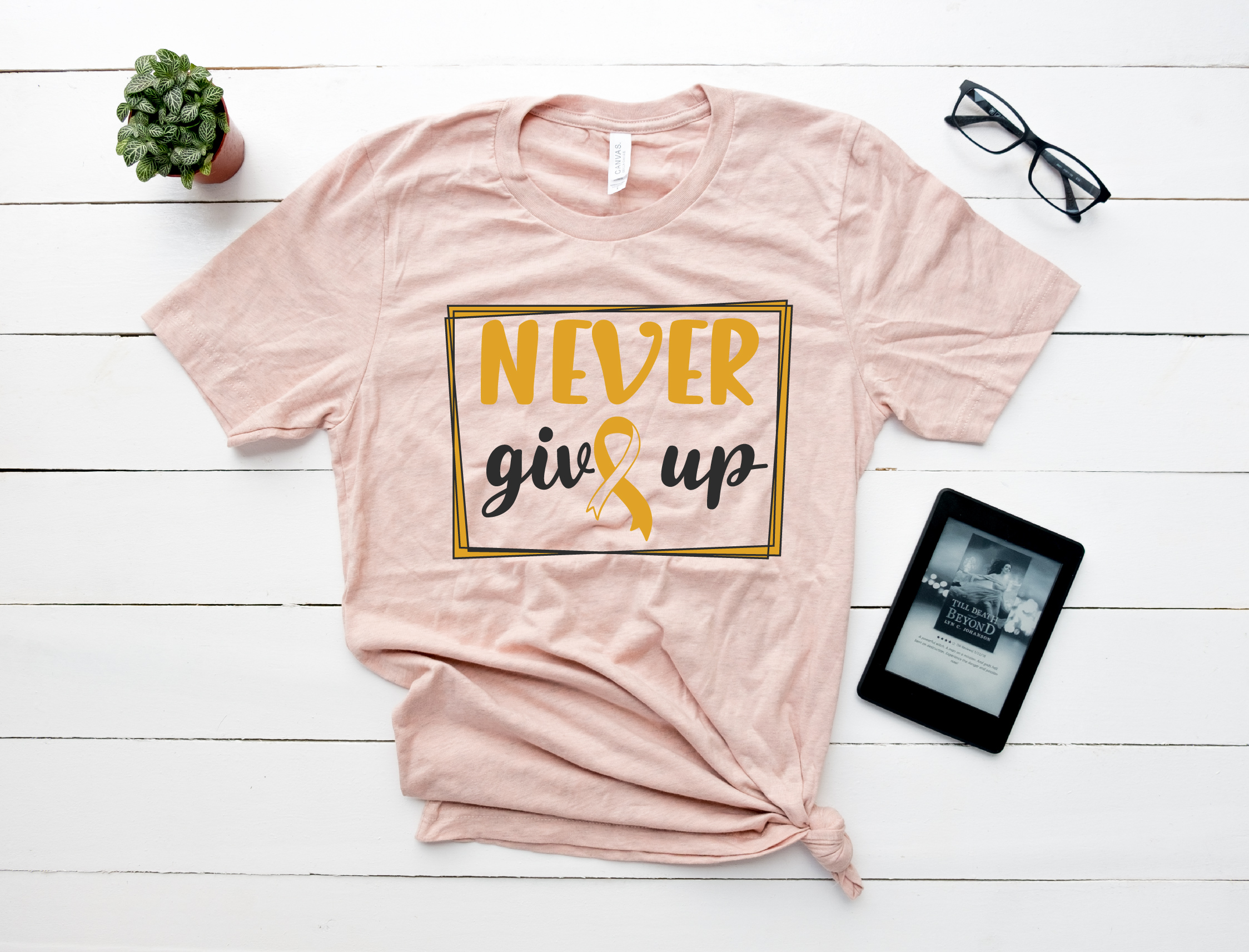 Never give up svg, Breast Cancer Awareness example image 2