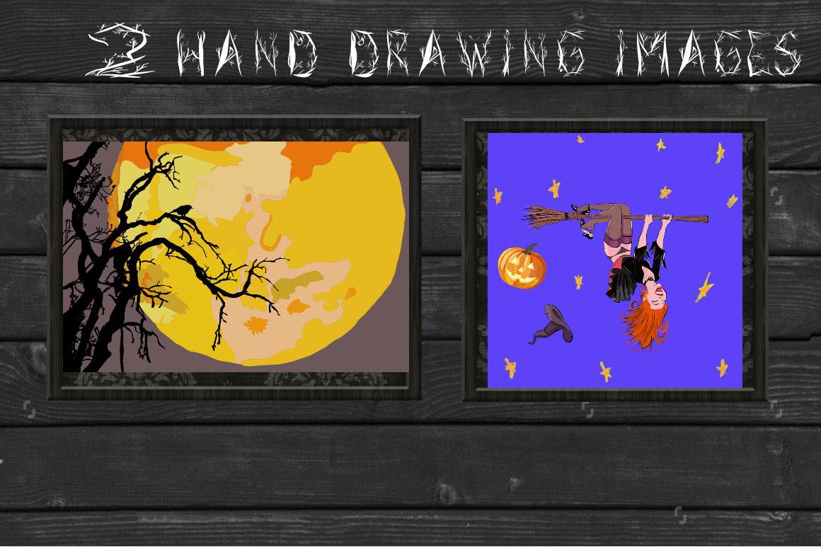 Halloween woody alphabet example image 4