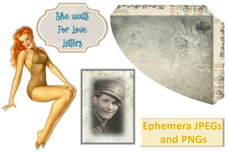 12 Page WW2 Junk Journal Kit with FREE Ephemera Pack. CU example image 9