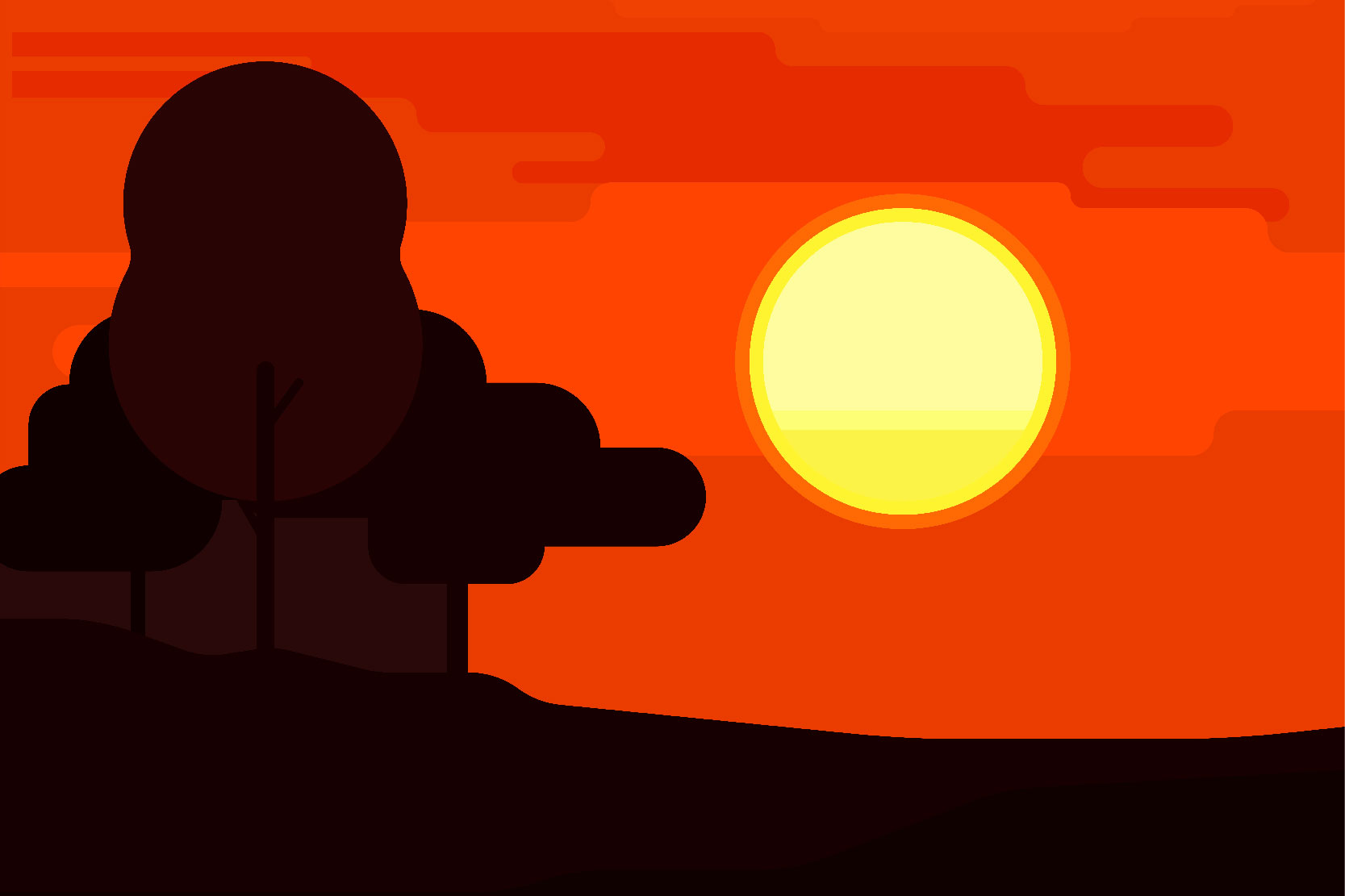 Mountain landscapes - Vector illustrations example image 7