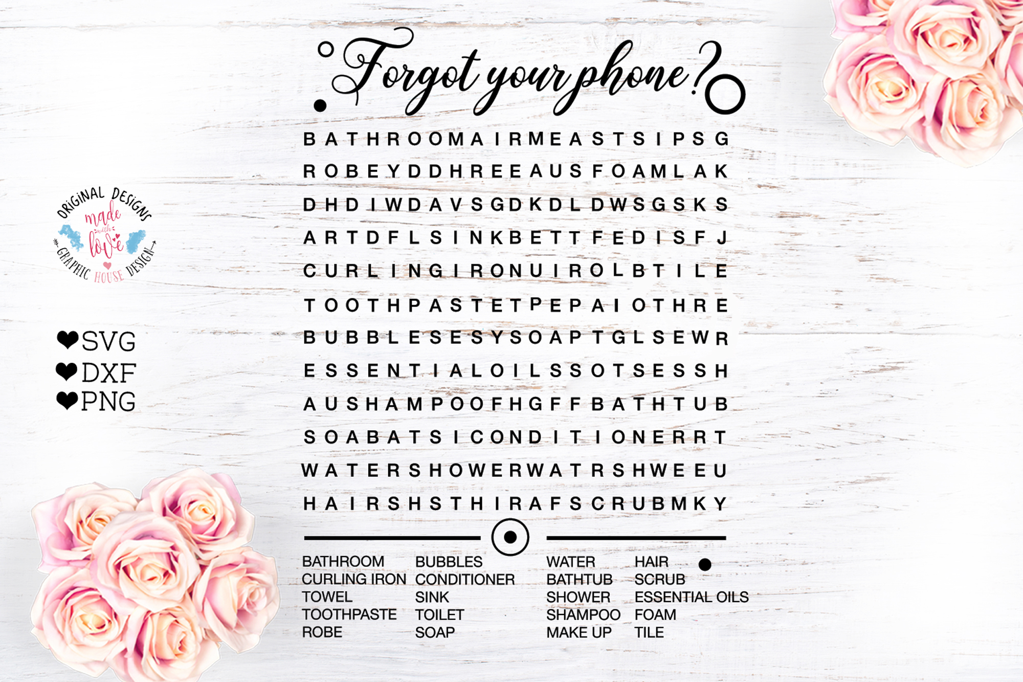 Forgot Your Phone -Bathroom Decor Game example image 1