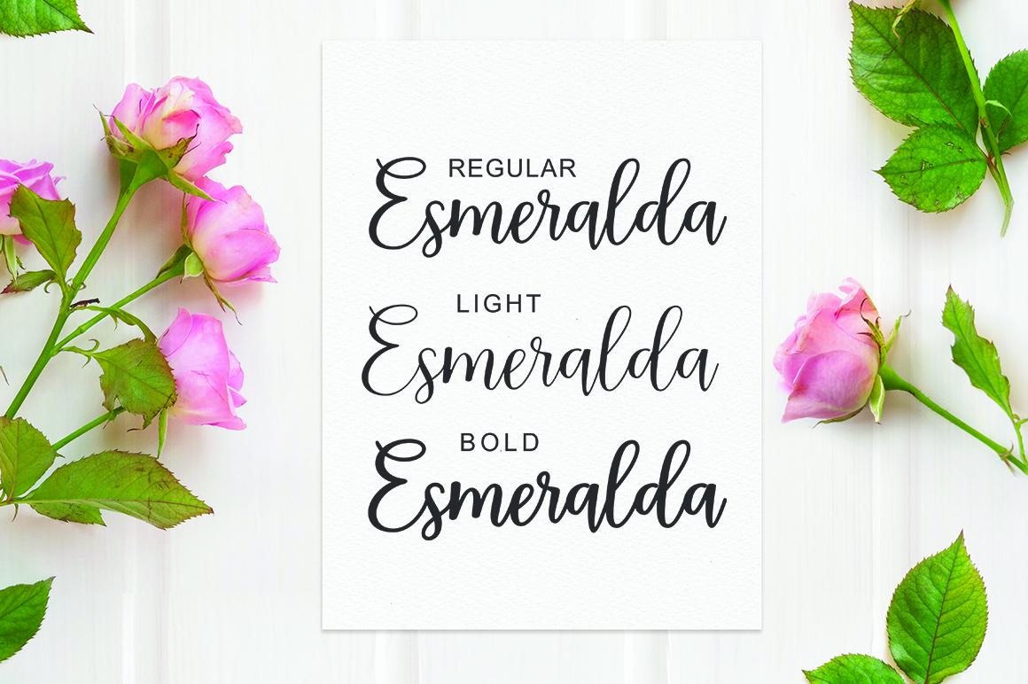Esmeralda Script example image 2