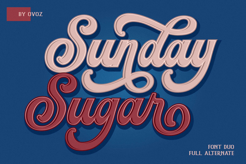 Sunday Sugar Script Font example image 1