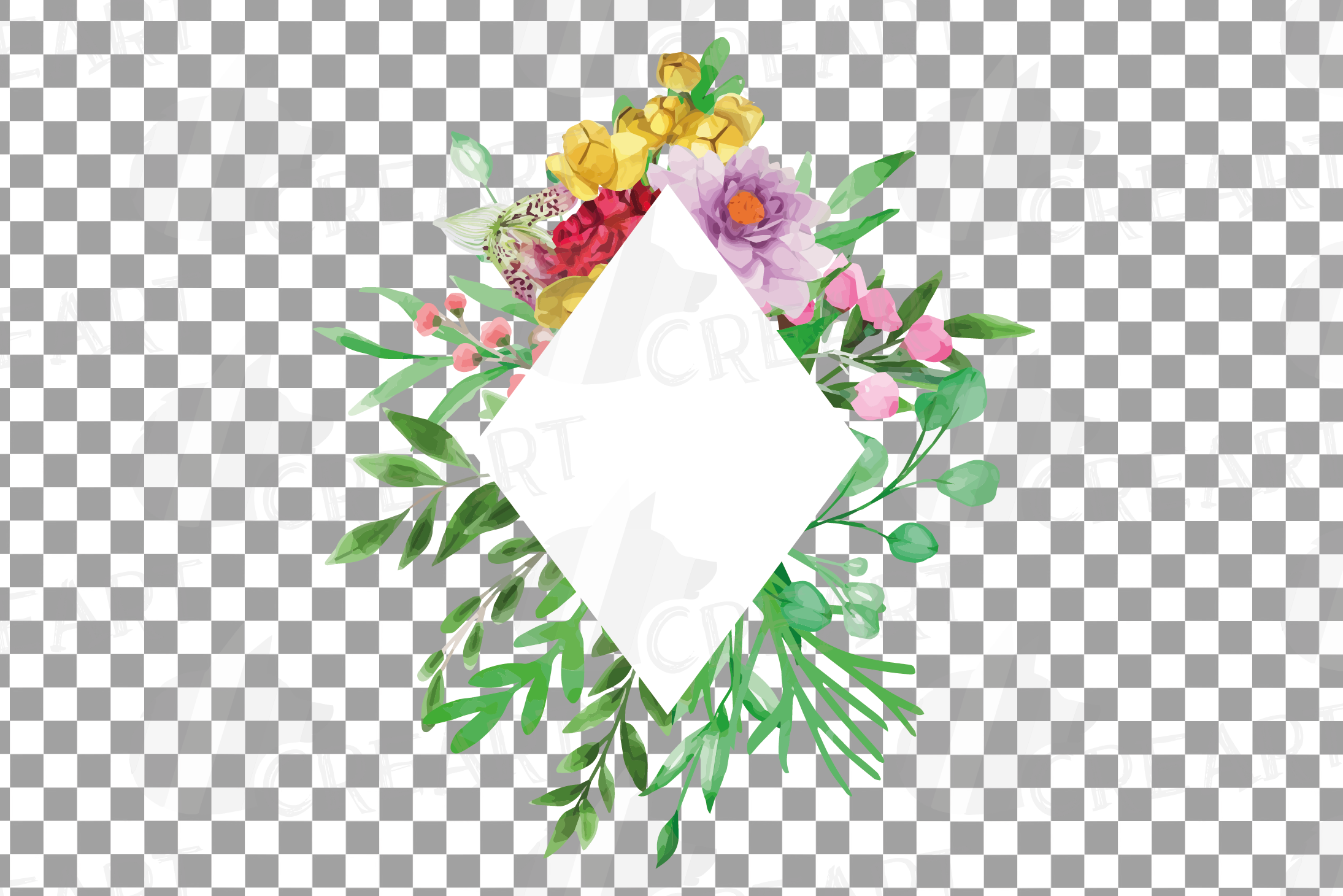Watercolor floral floral frames and borders clip art pack example image 25