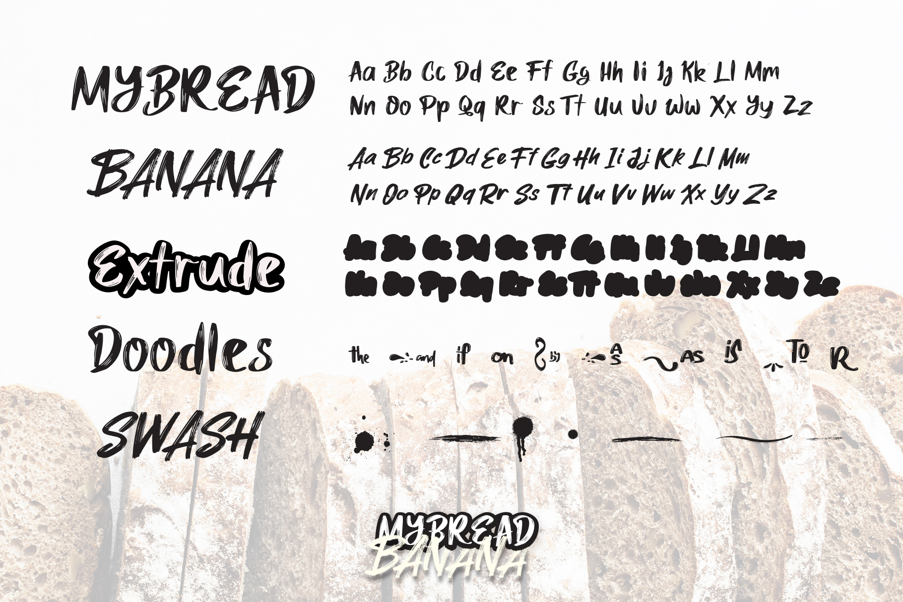 MyBread Banana Font Duo example image 2
