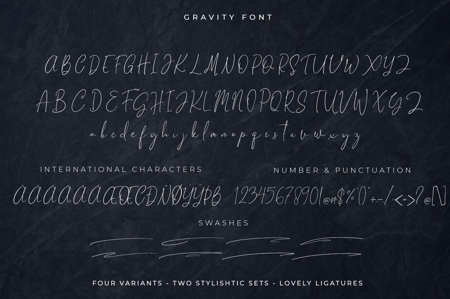 Gravity-Handwritten & Signature example image 14