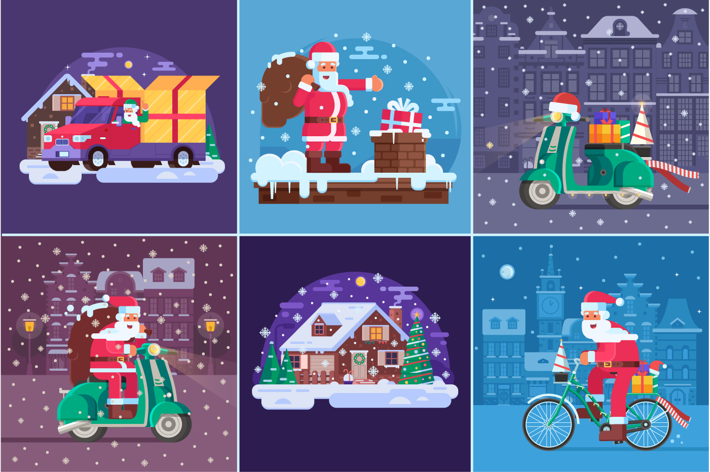 Santa Delivery Service Cards and Scenes example image 4