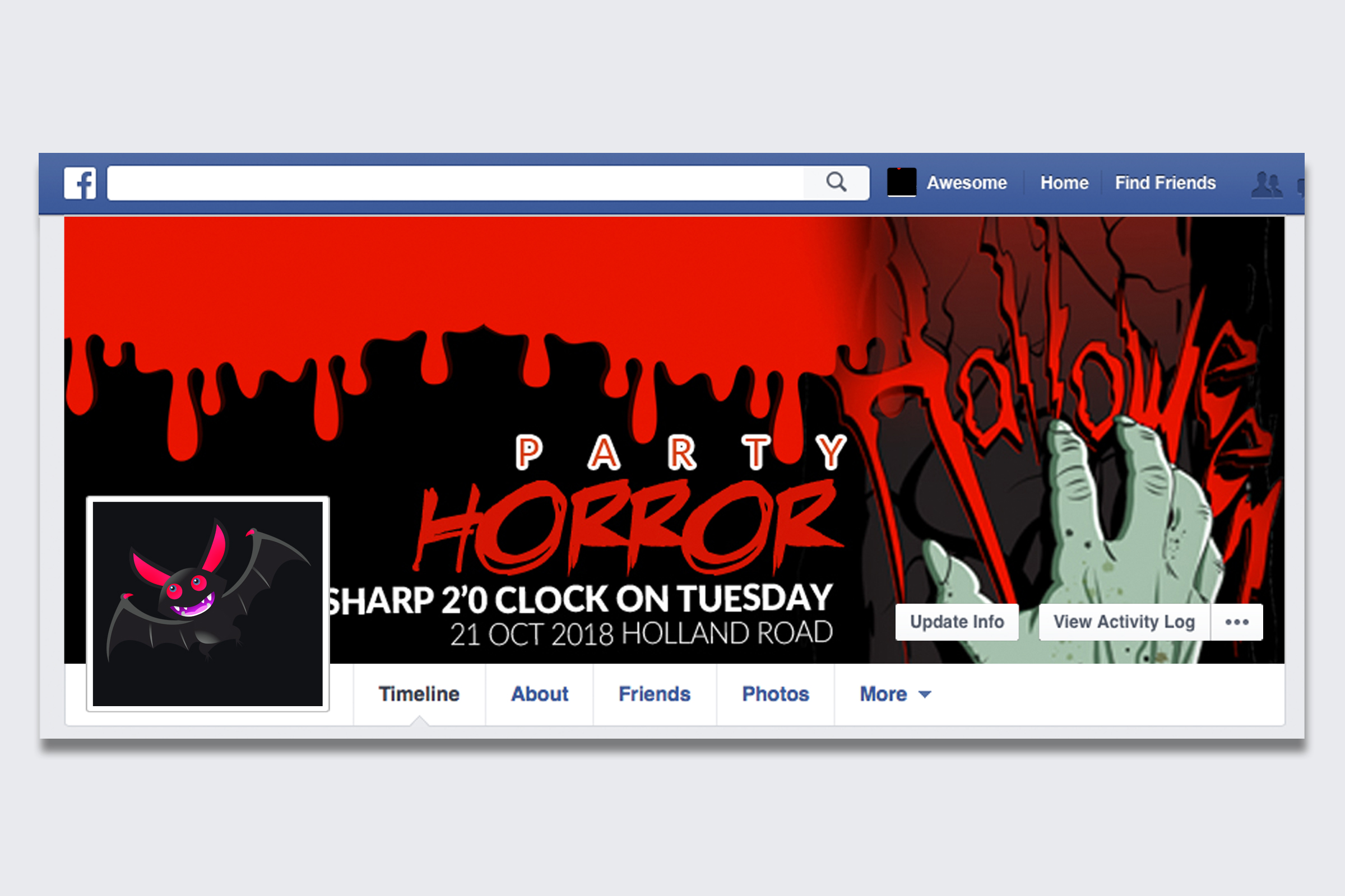 10 Halloween Facebook Timeline Cover Bundle example image 10
