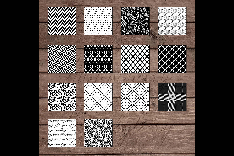 30 Seamless Black & White Basic Common Home Decor Patterns example image 7