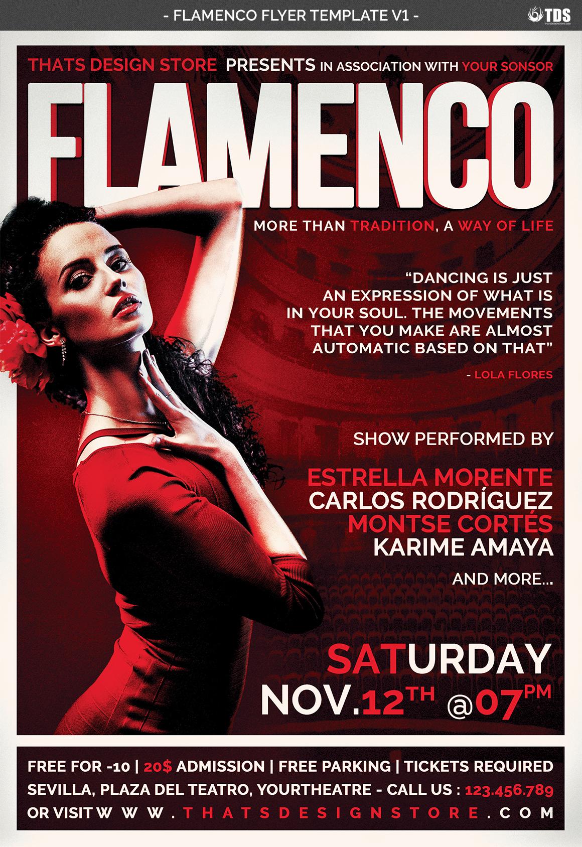Flamenco Flyer Template V1 example image 5