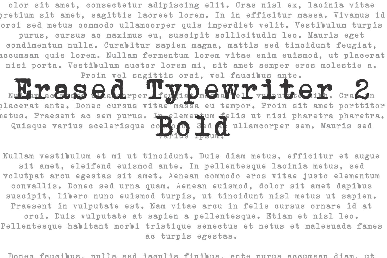 Erased Typewriter 2 Bold example image 1