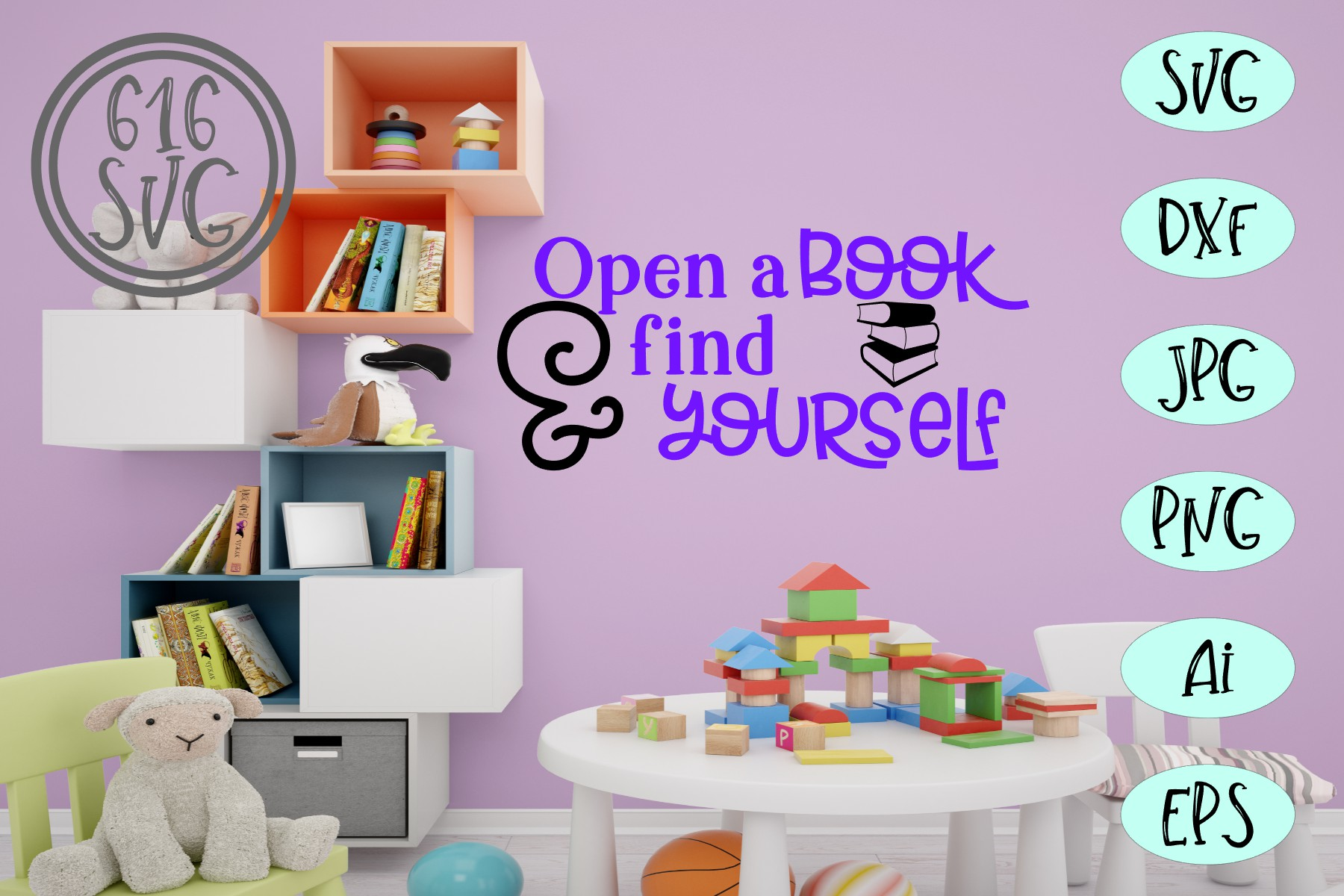 Childrens Library Bundle SVG, DXF, Ai, PNG example image 11