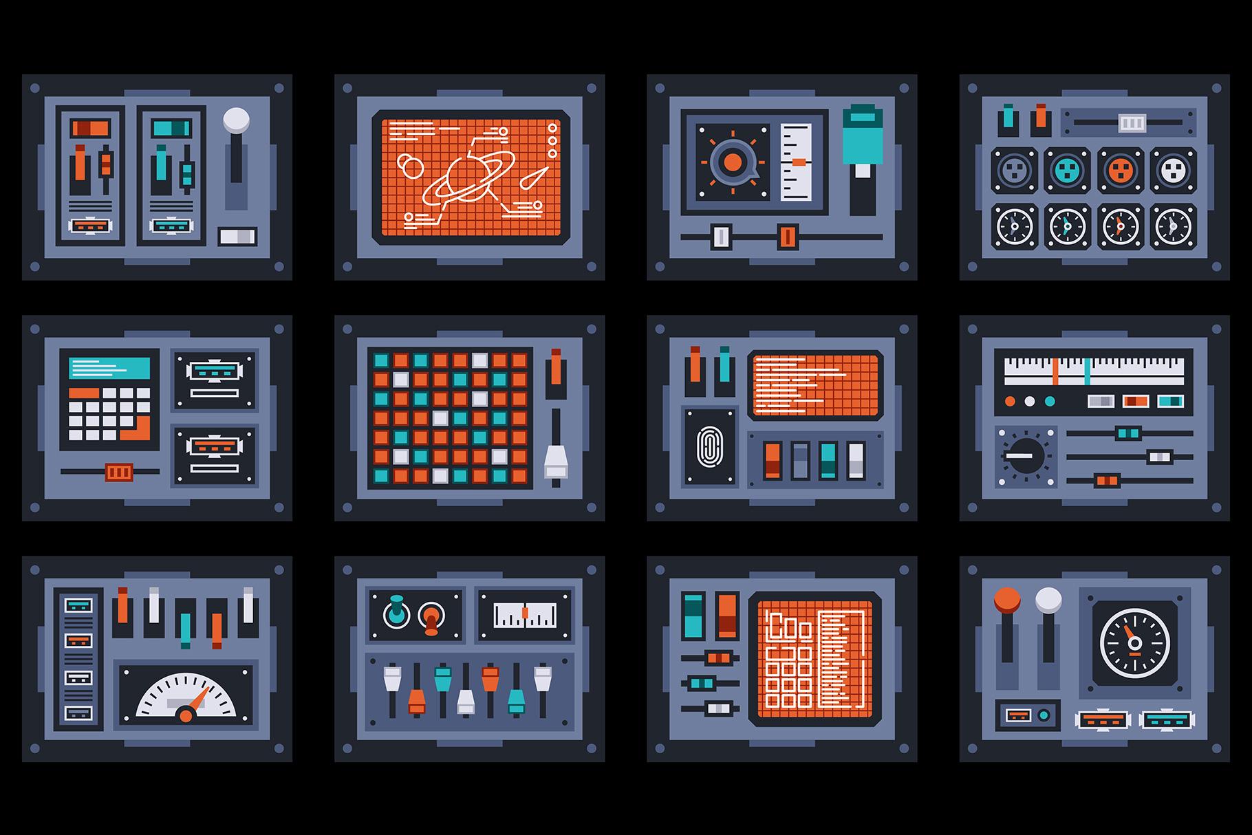 Control Panels Spaceship example image 4