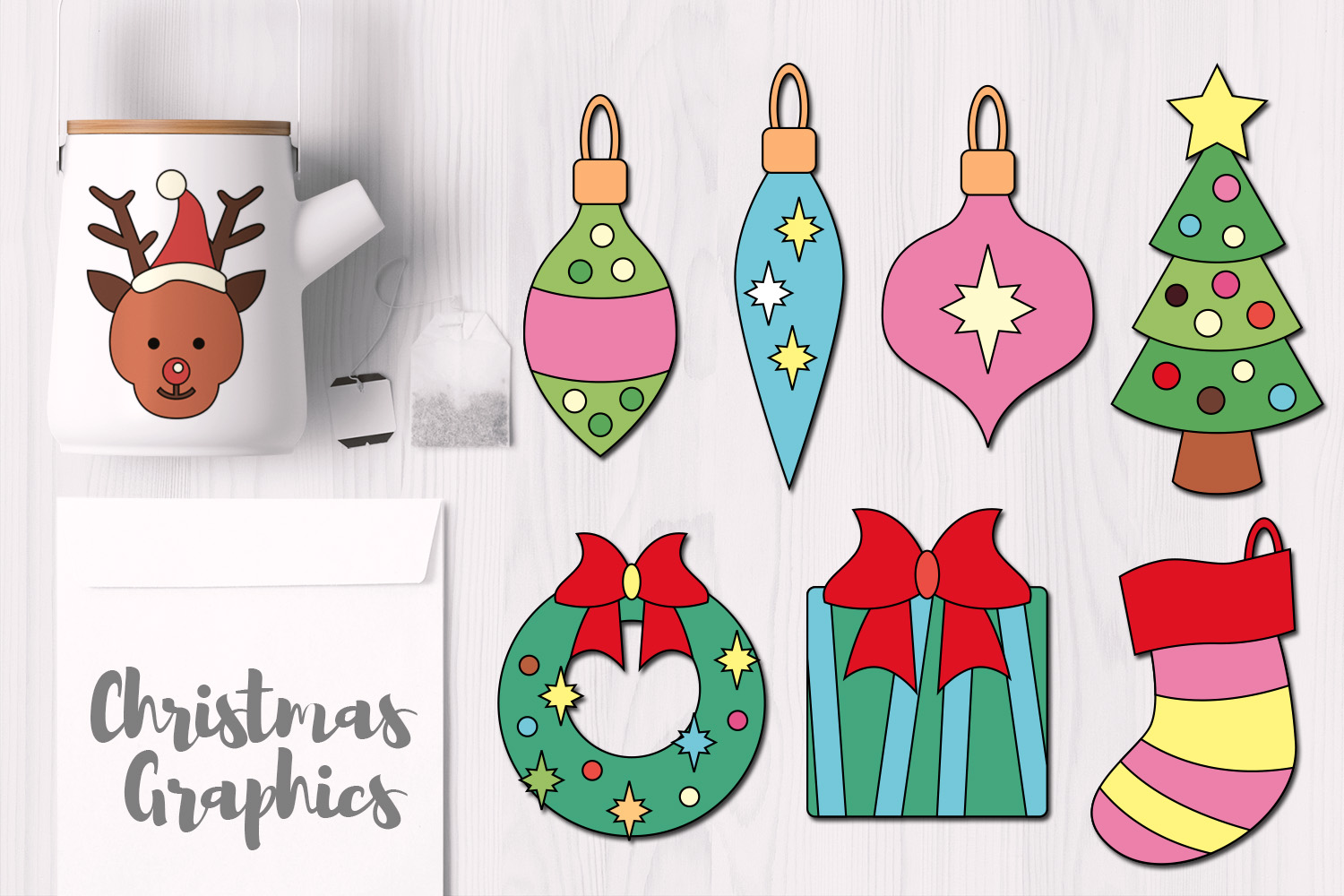 Simple Christmas Objects Ornaments example image 1