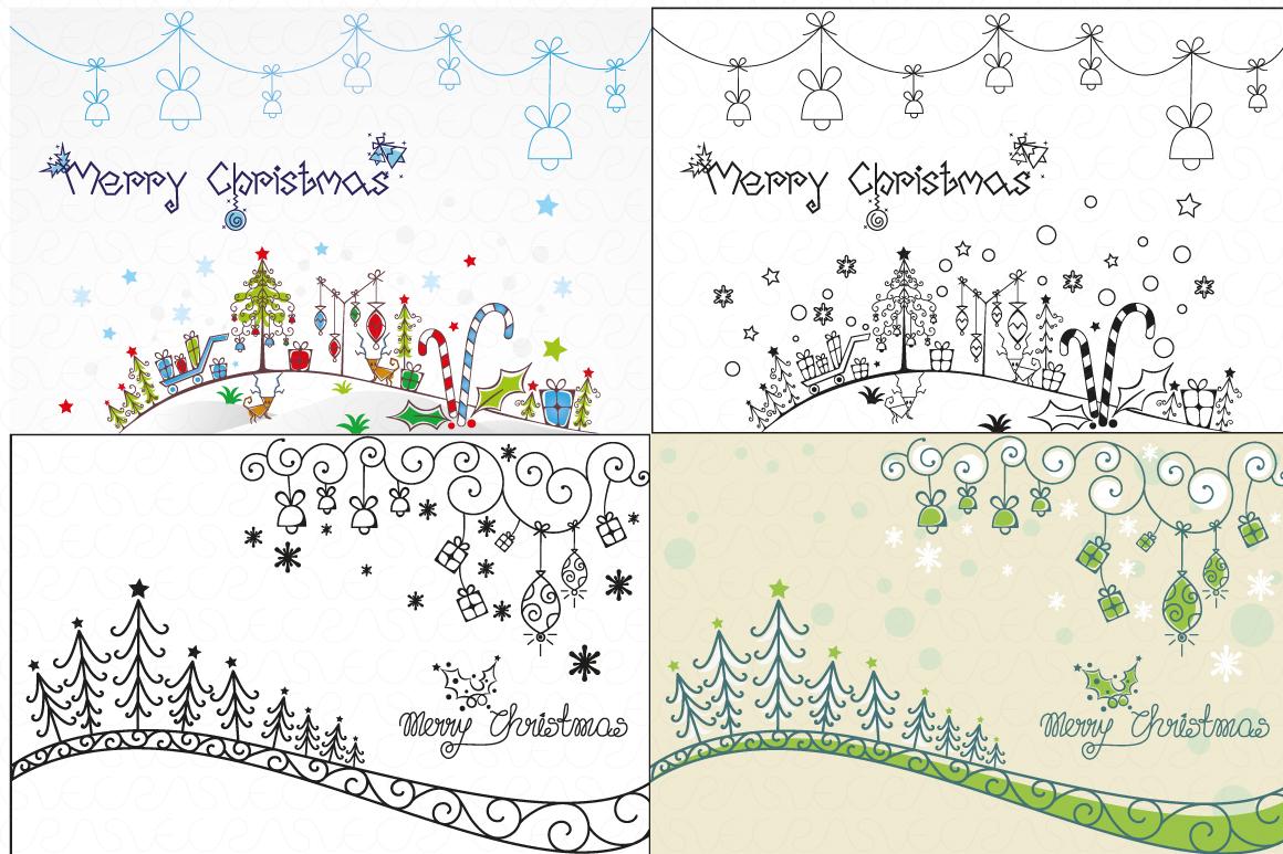 Christmas & New Year Bundle of Ornamental Mockups & Graphics example image 19
