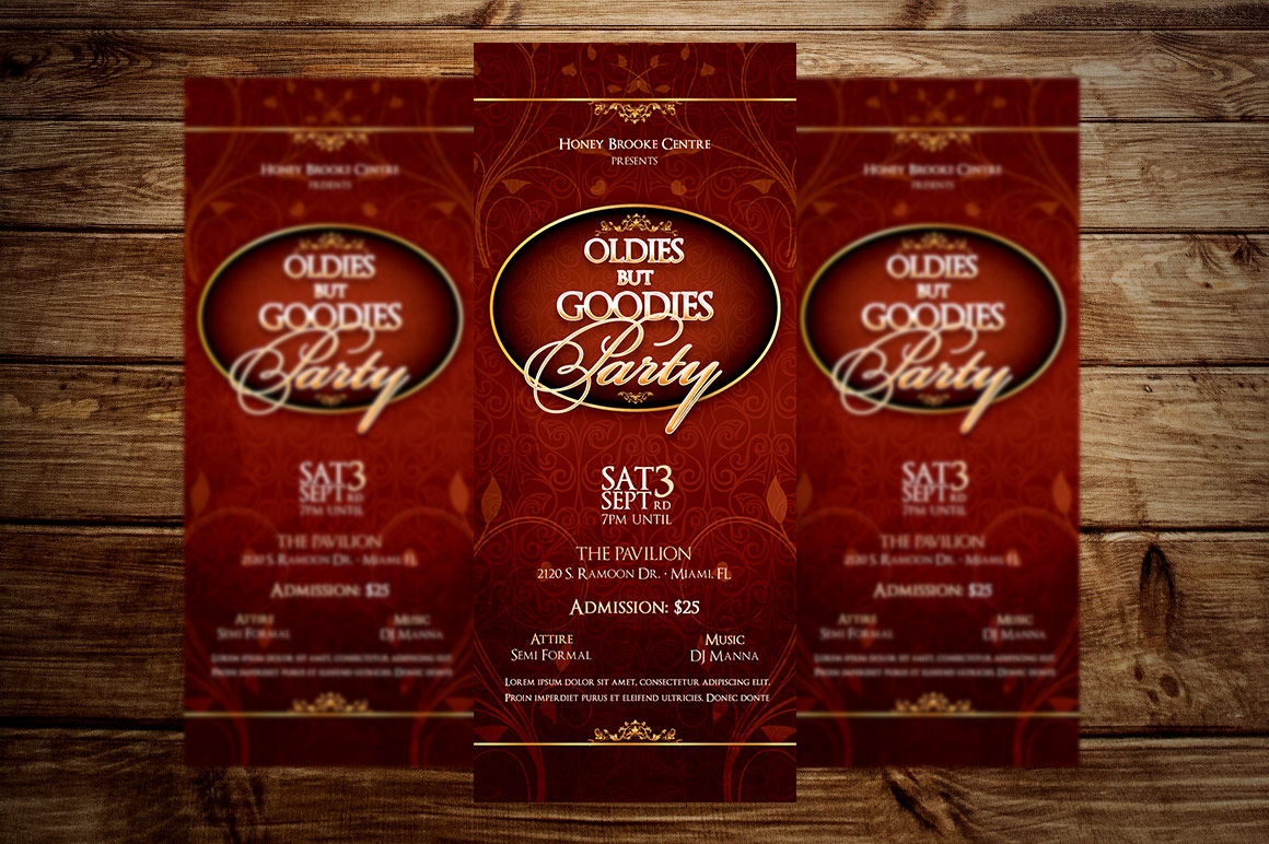 Vintage Party Ticket Template example image 4