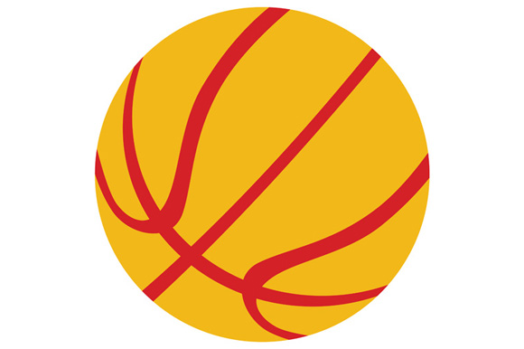 Basketball Ball Isolated Retro example image 1