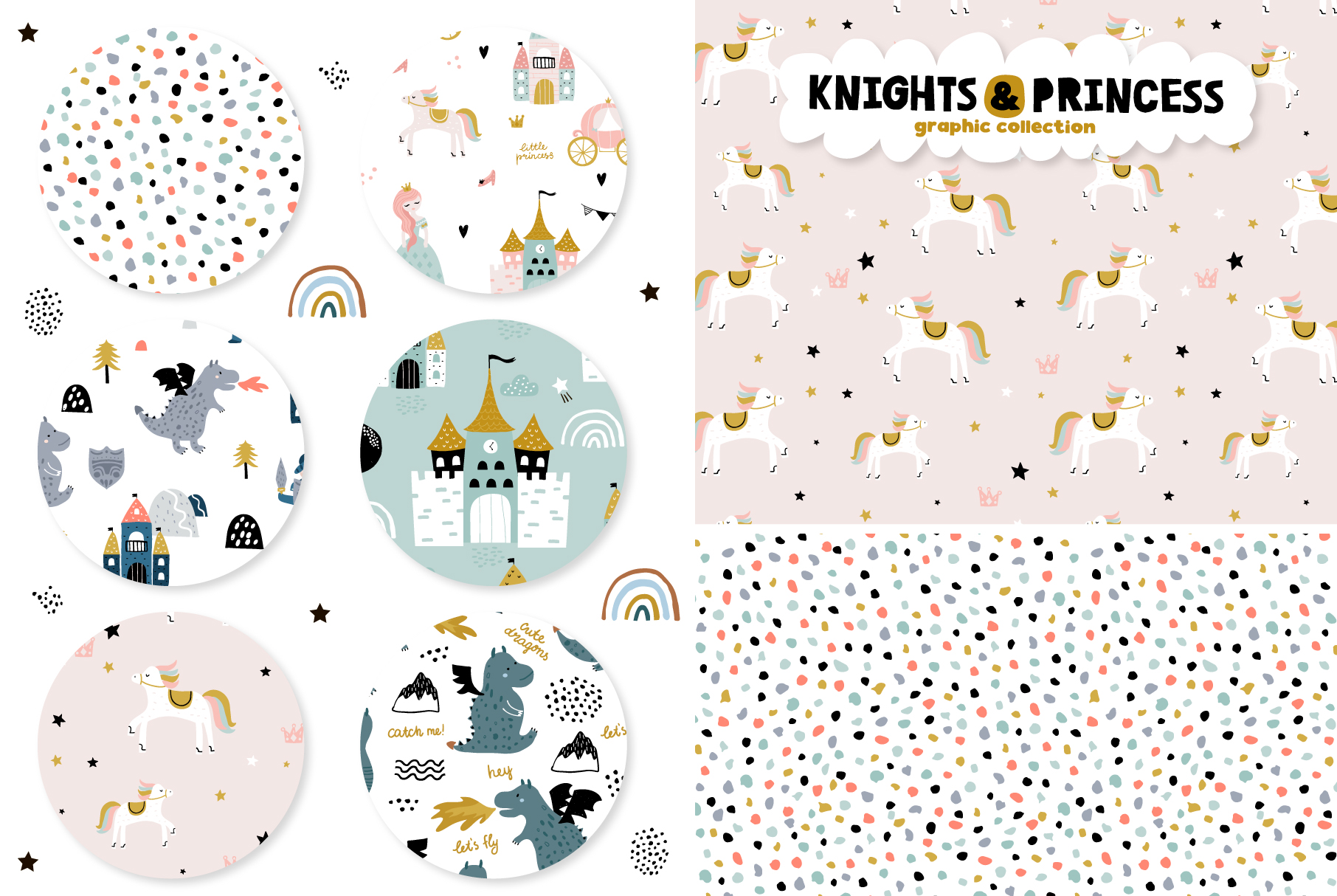 Knights & Princess graphic set example image 2