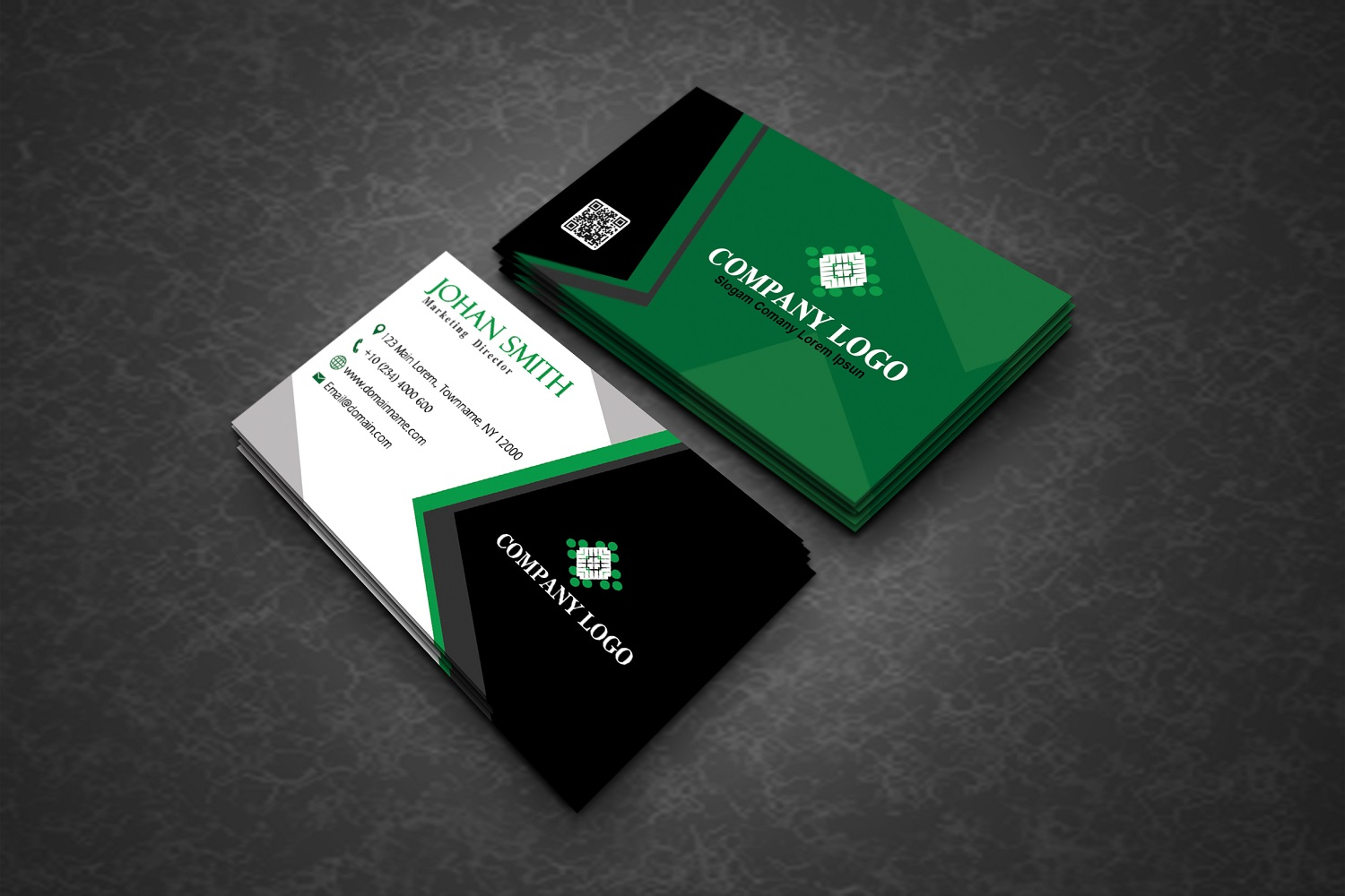 Modern Corporate Business Cards example image 4