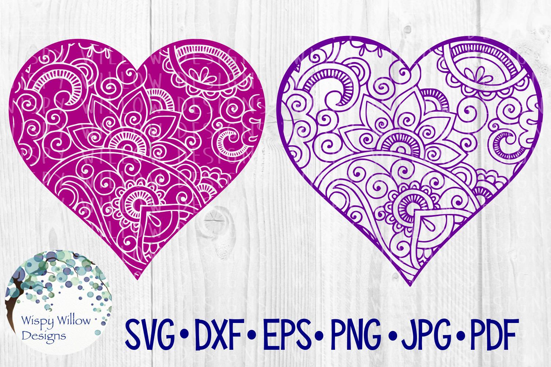 Heart Bundle | Plaid, Mermaid Scales, Mandala, Zentangle example image 4